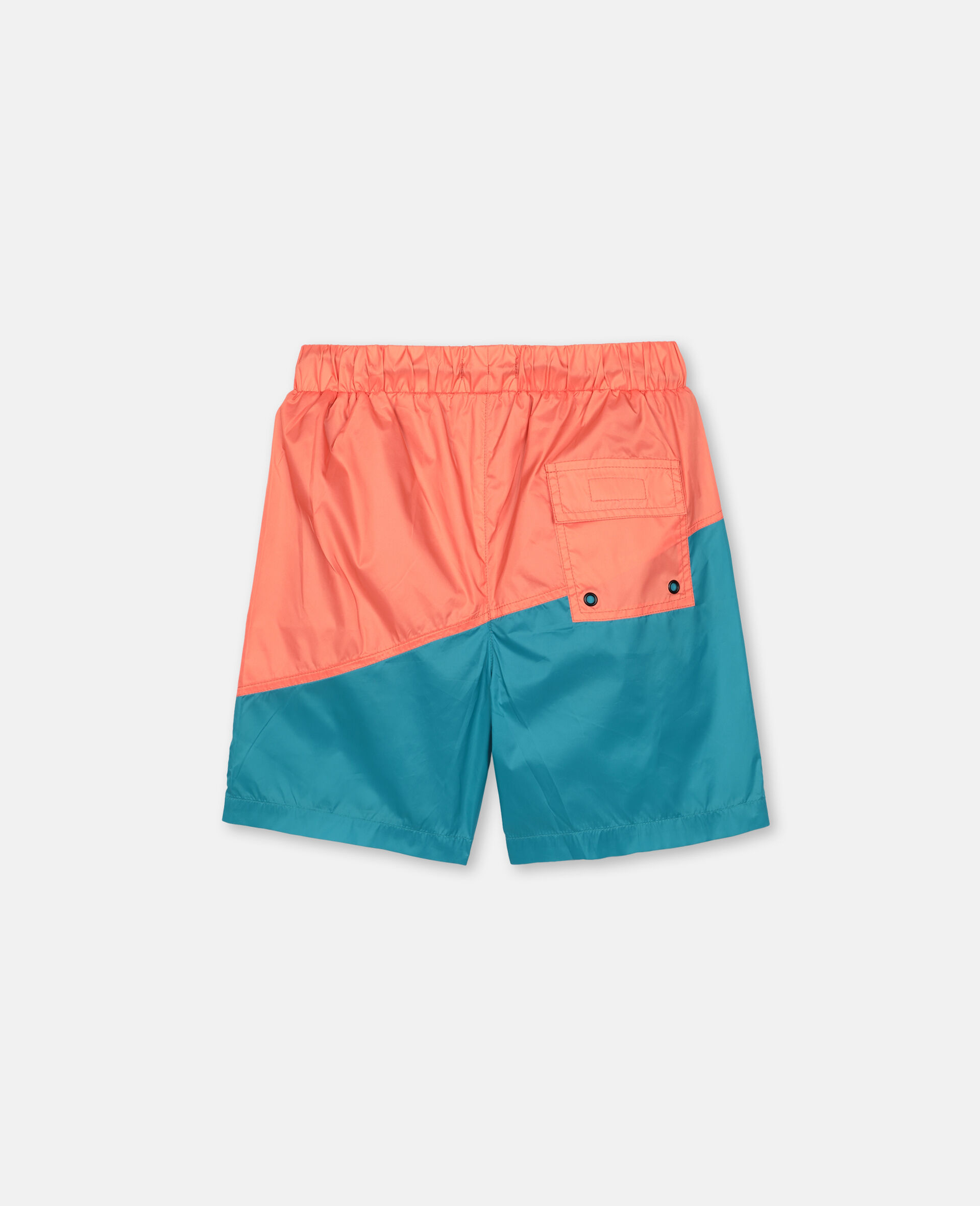 Logo Sport Swim Shorts -Orange-large image number 4