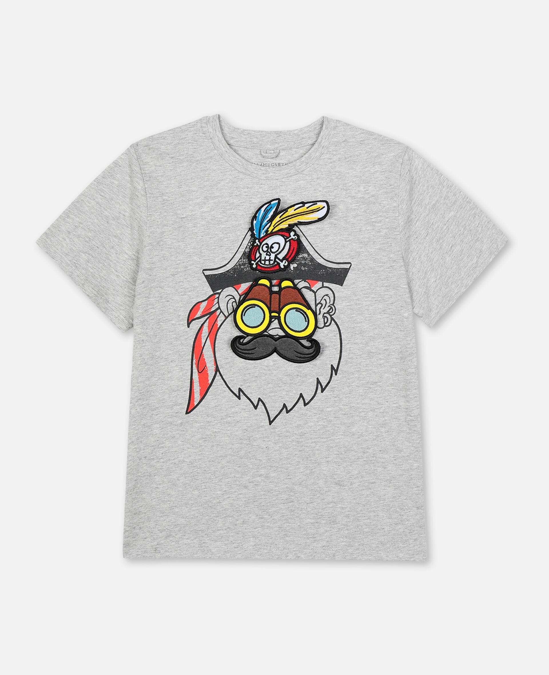 T-Shirt con Pirata -Grigio-large image number 0