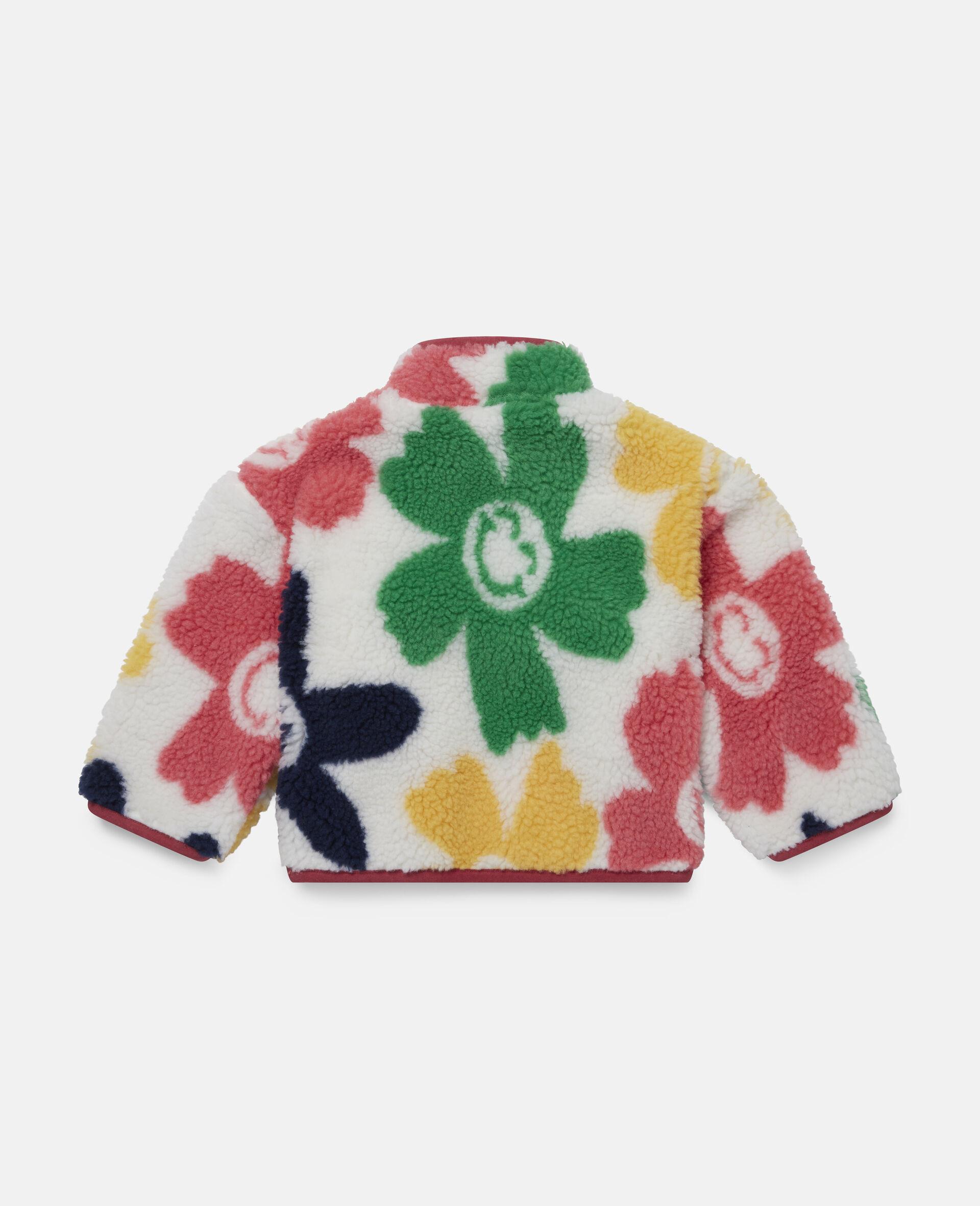 Veste en Teddy motif fleurs souriantes-Fantaisie-large image number 3