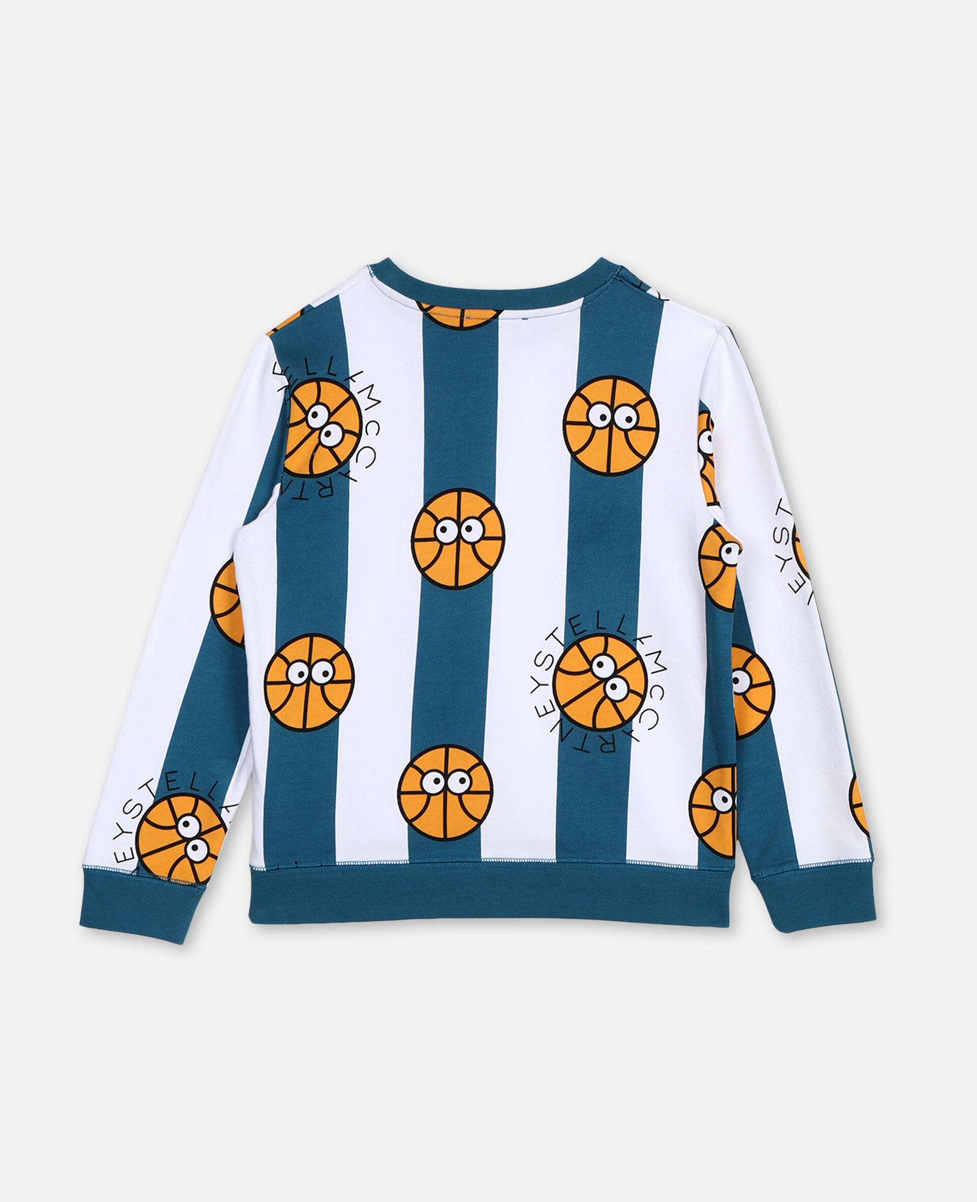 Basketball Cotton Sweatshirt -Multicolour-large image number 3