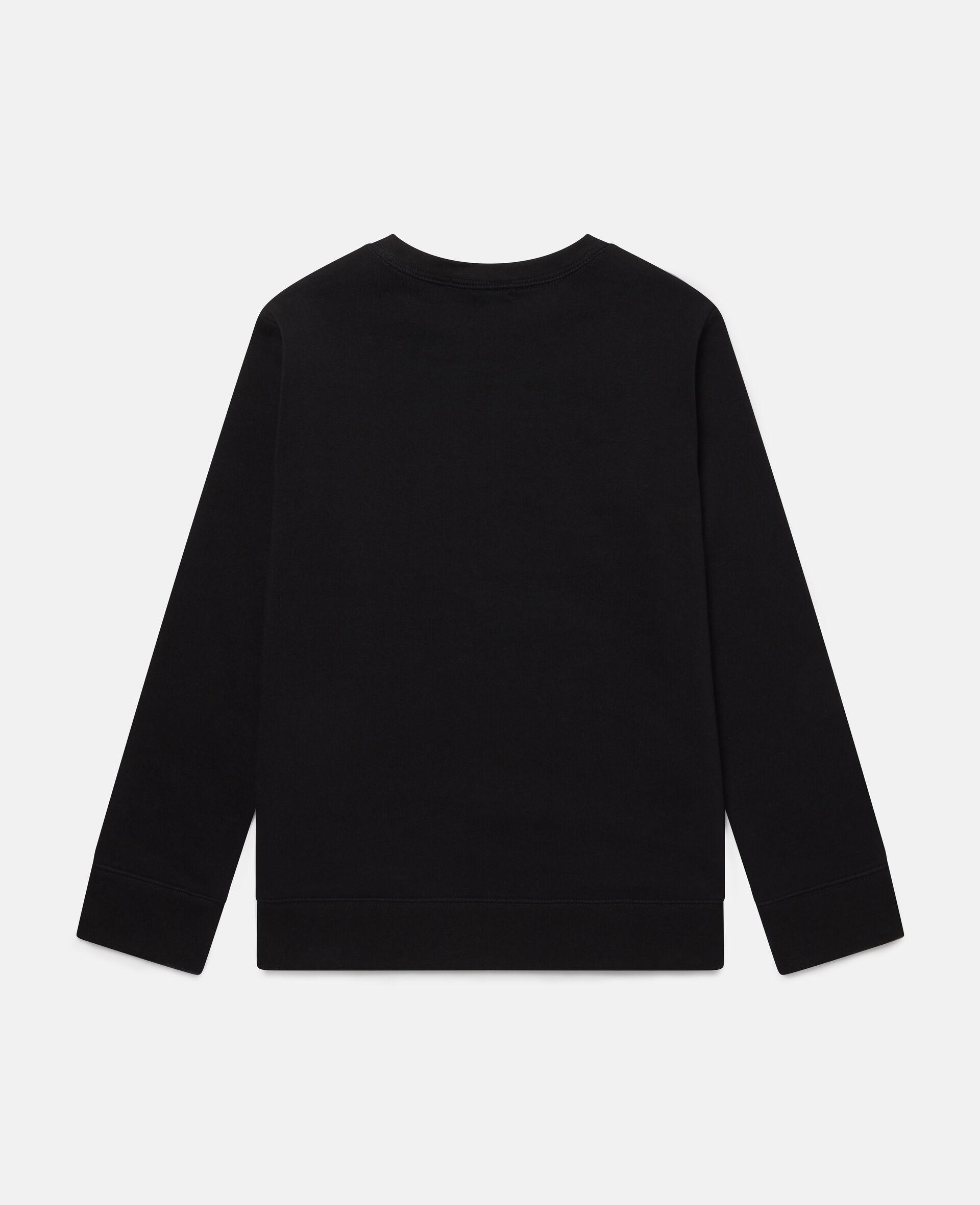 Fun Oversize Cotton Fleece Sweatshirt -Black-large image number 3
