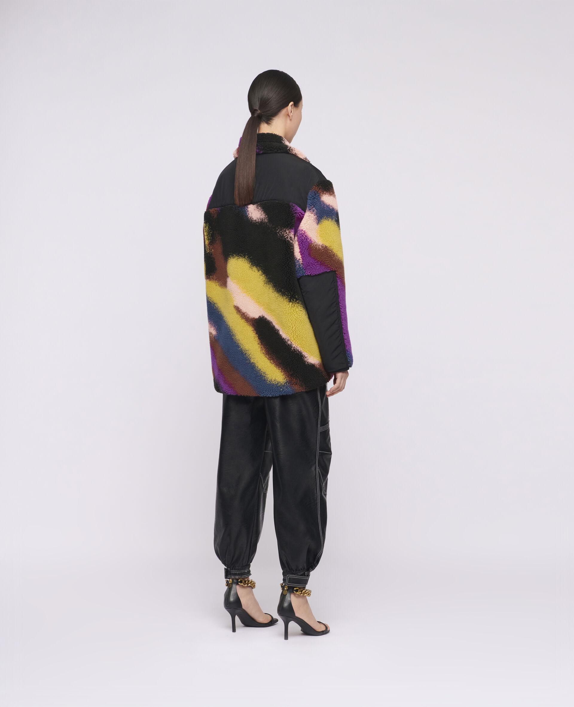 Marley Jacquard Teddy Mat Jacket-Multicolour-large image number 2