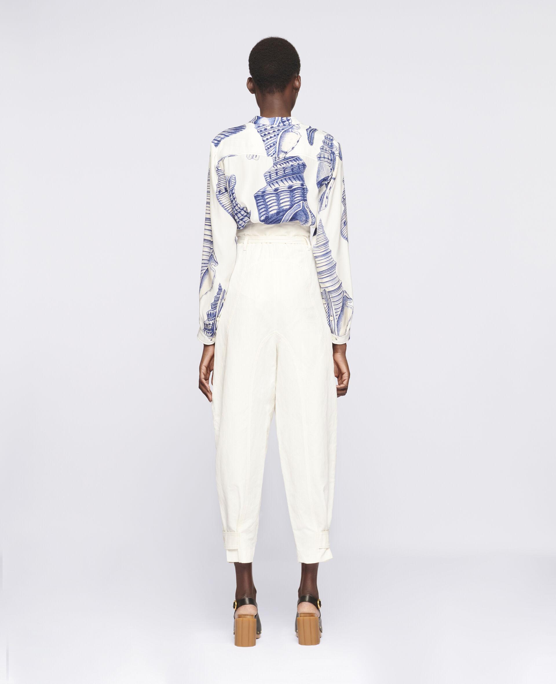 Pantalon Daisy fuselé-Blanc-large image number 2