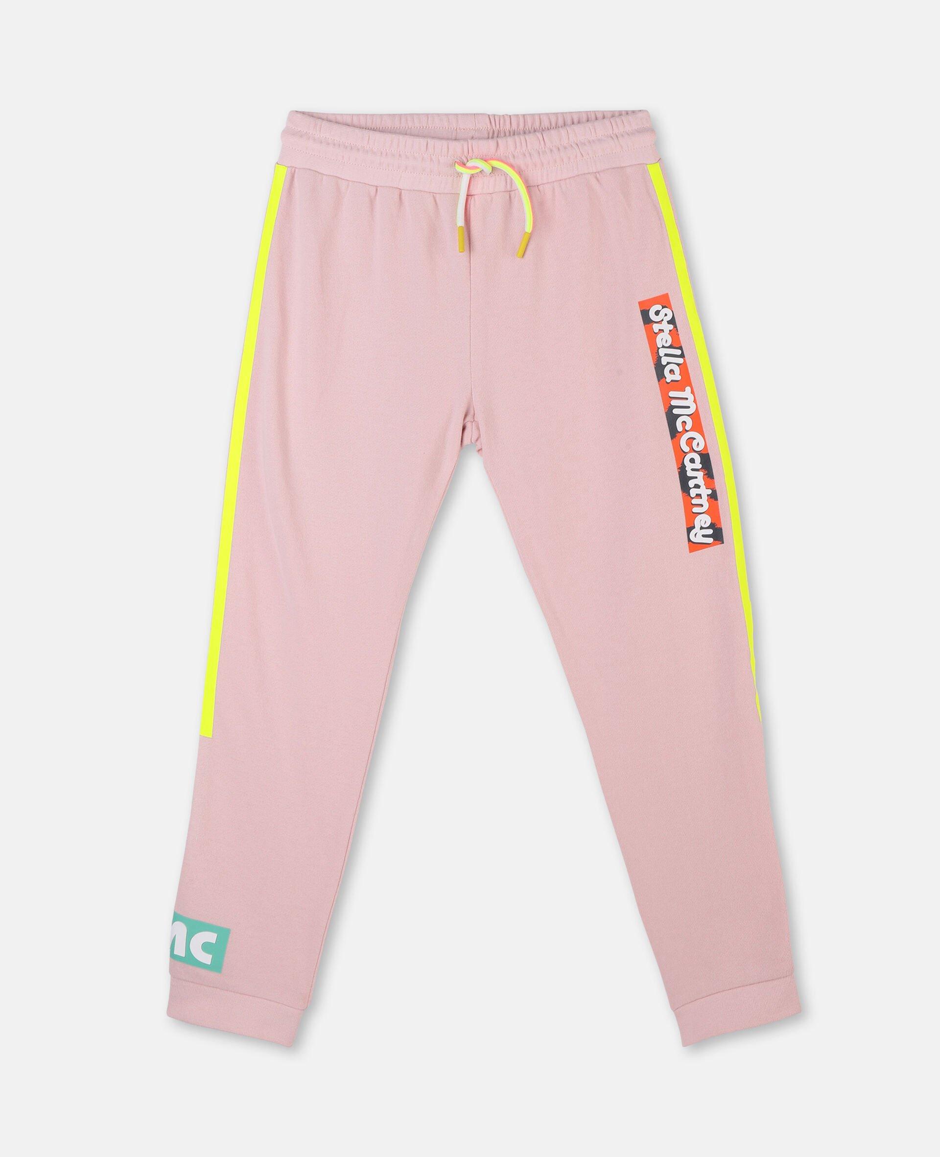 Logo Badge Cotton Fleece Sweatpants -Pink-large image number 0