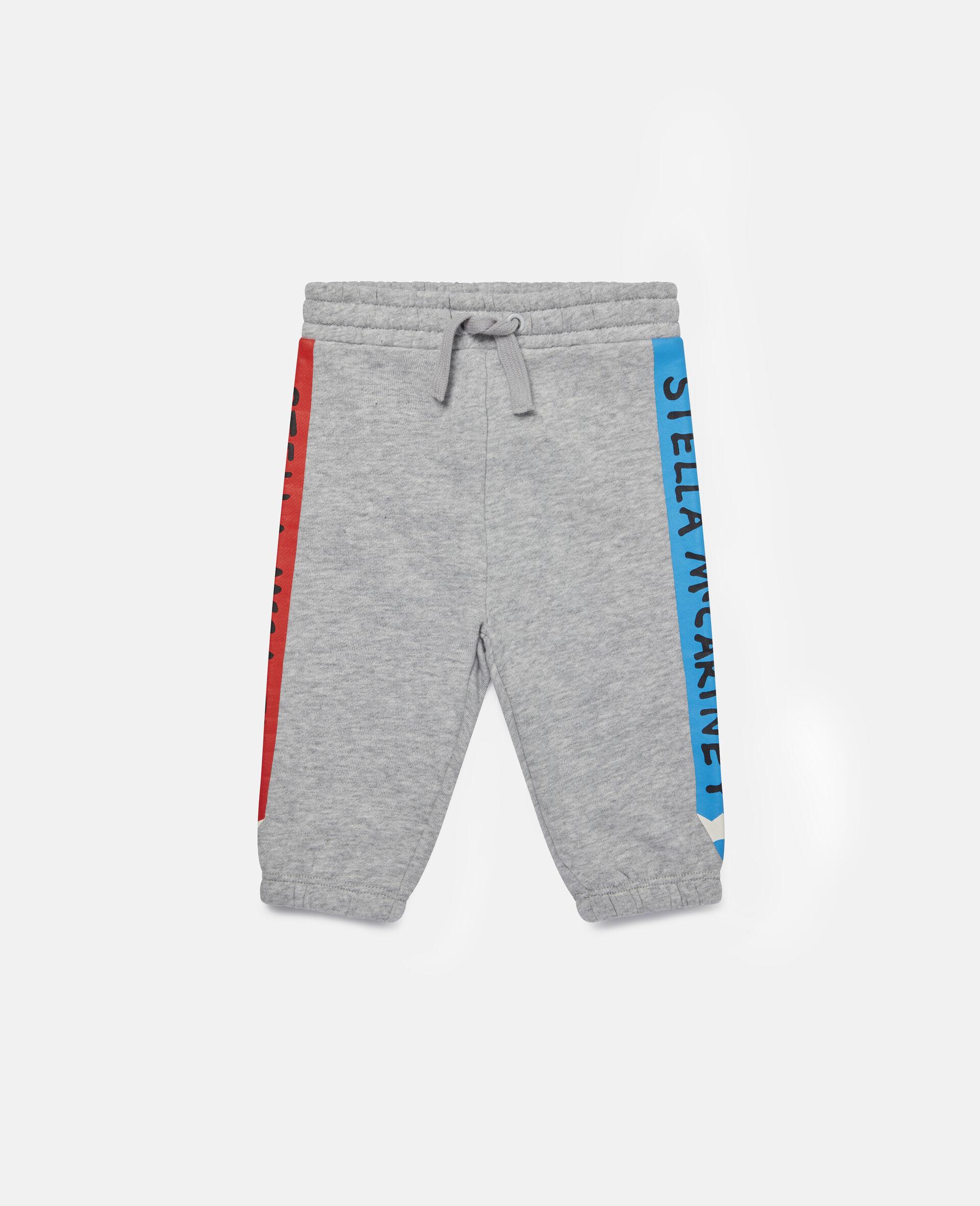 Pantalon de jogging en polaire à crayons-Gris-large image number 0