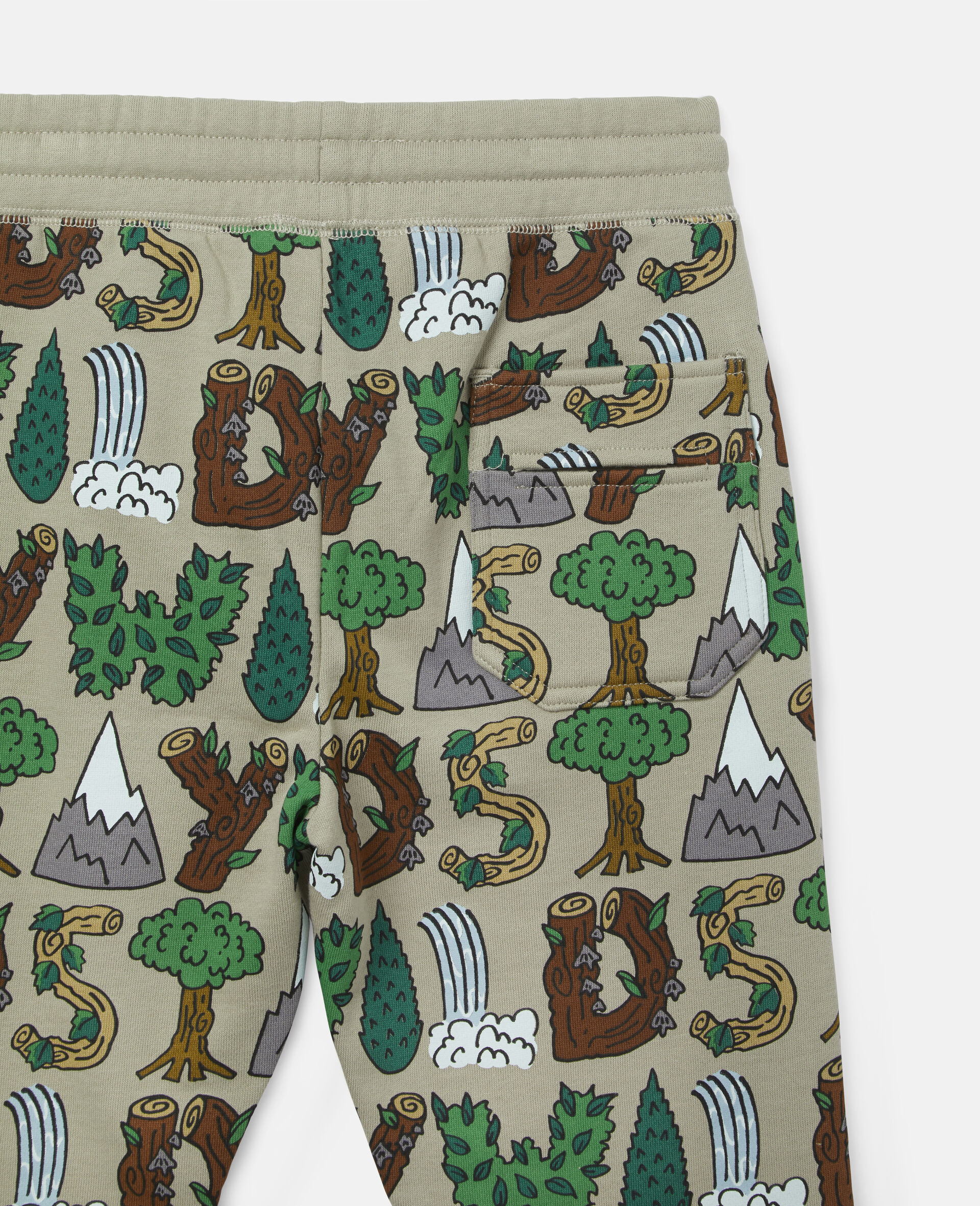 'Stay Wild' Fleece Joggers-Multicolour-large image number 2