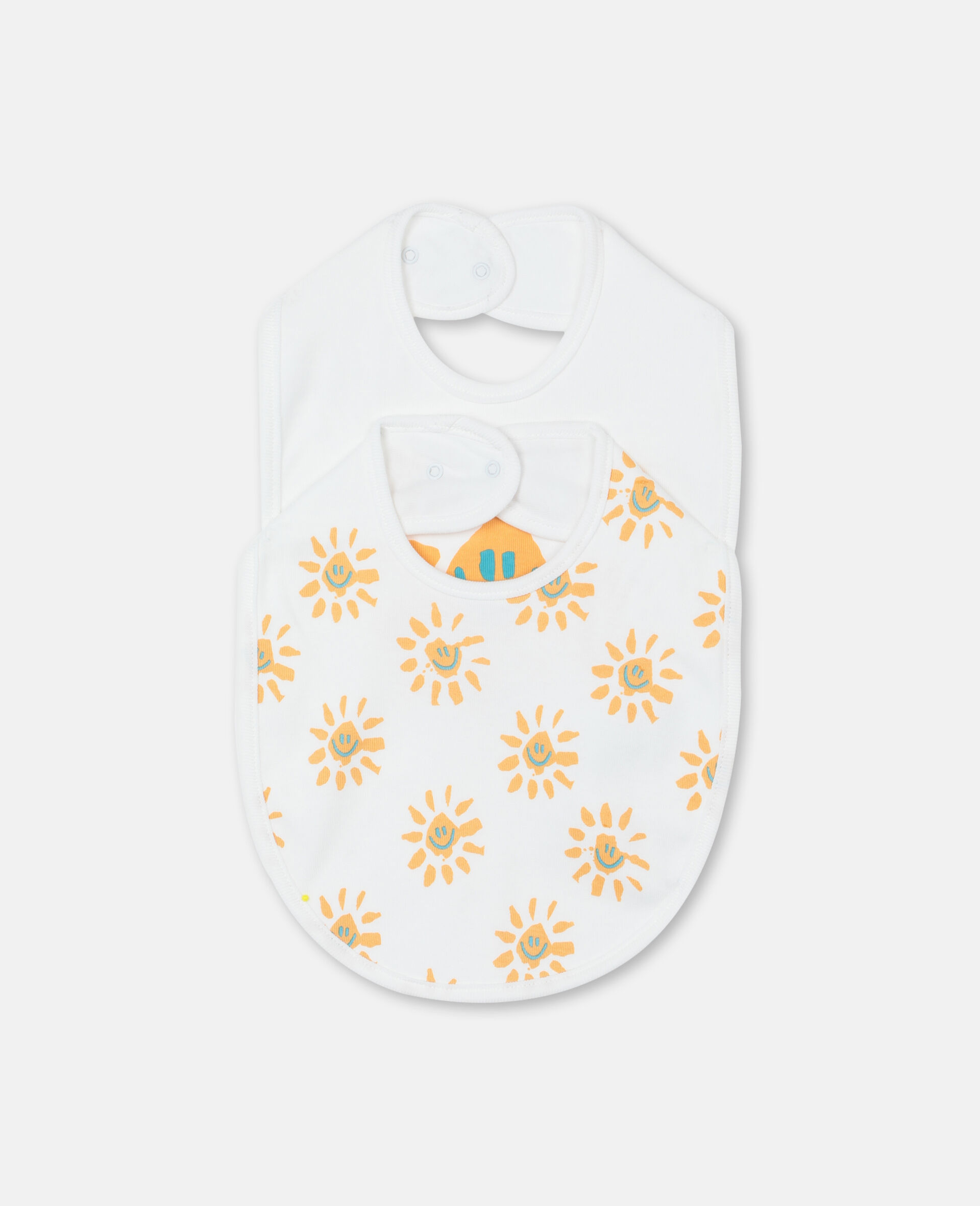 Happy Sun Jersey Rib Bibs Set -Yellow-large image number 0