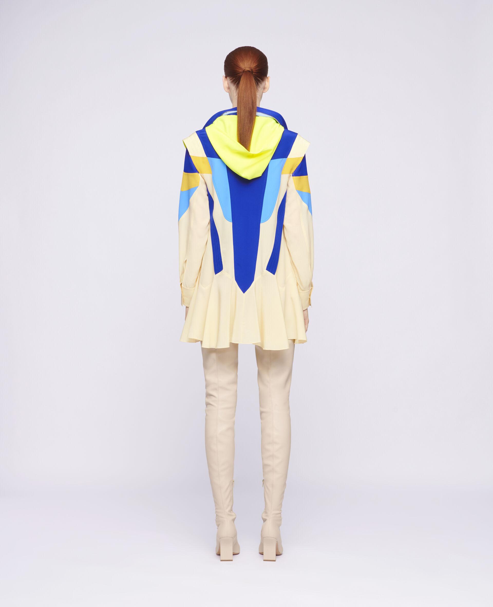 Monica Silk Dress-Beige-large image number 2