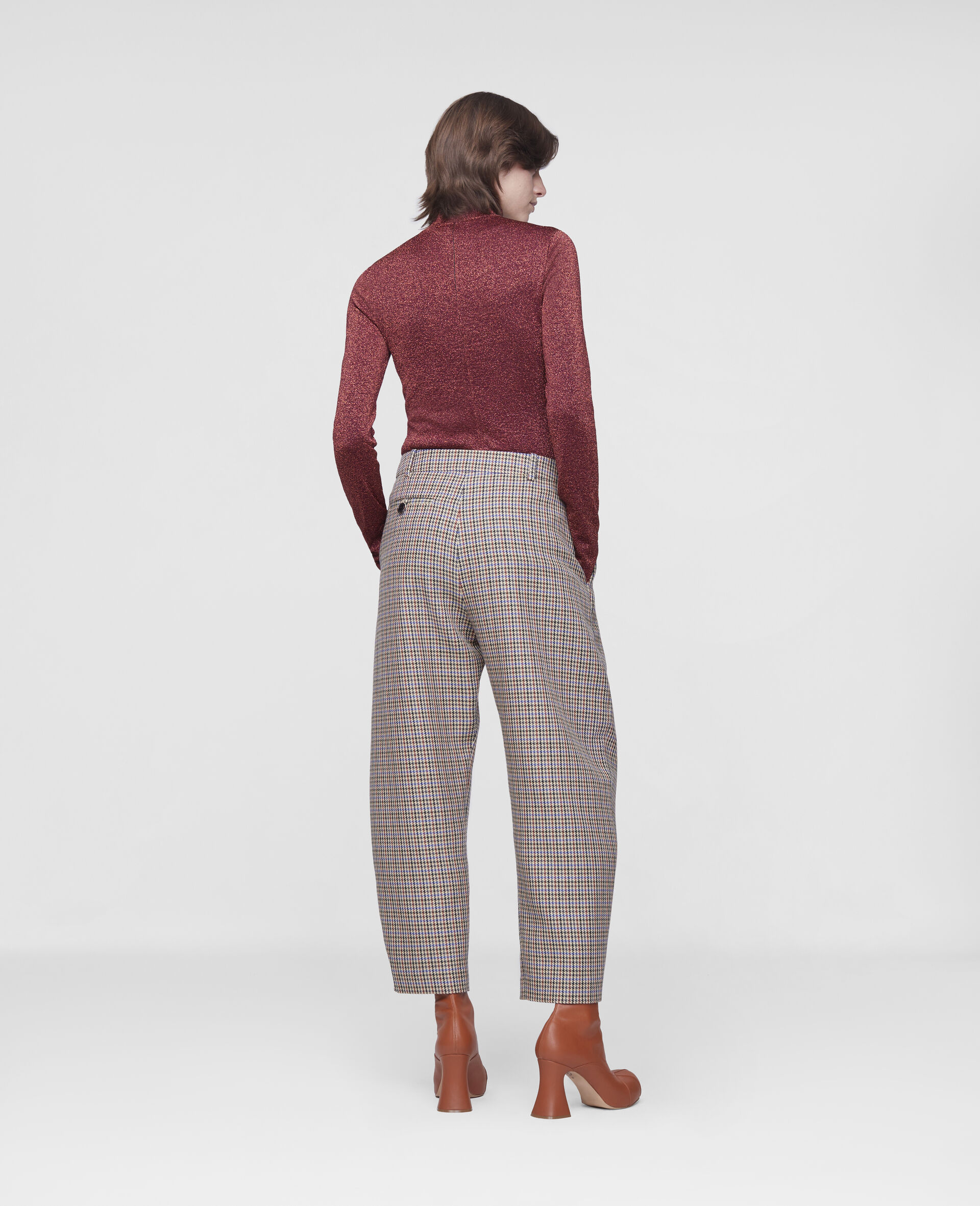 Cavalry Wool Trousers-Beige-large image number 2