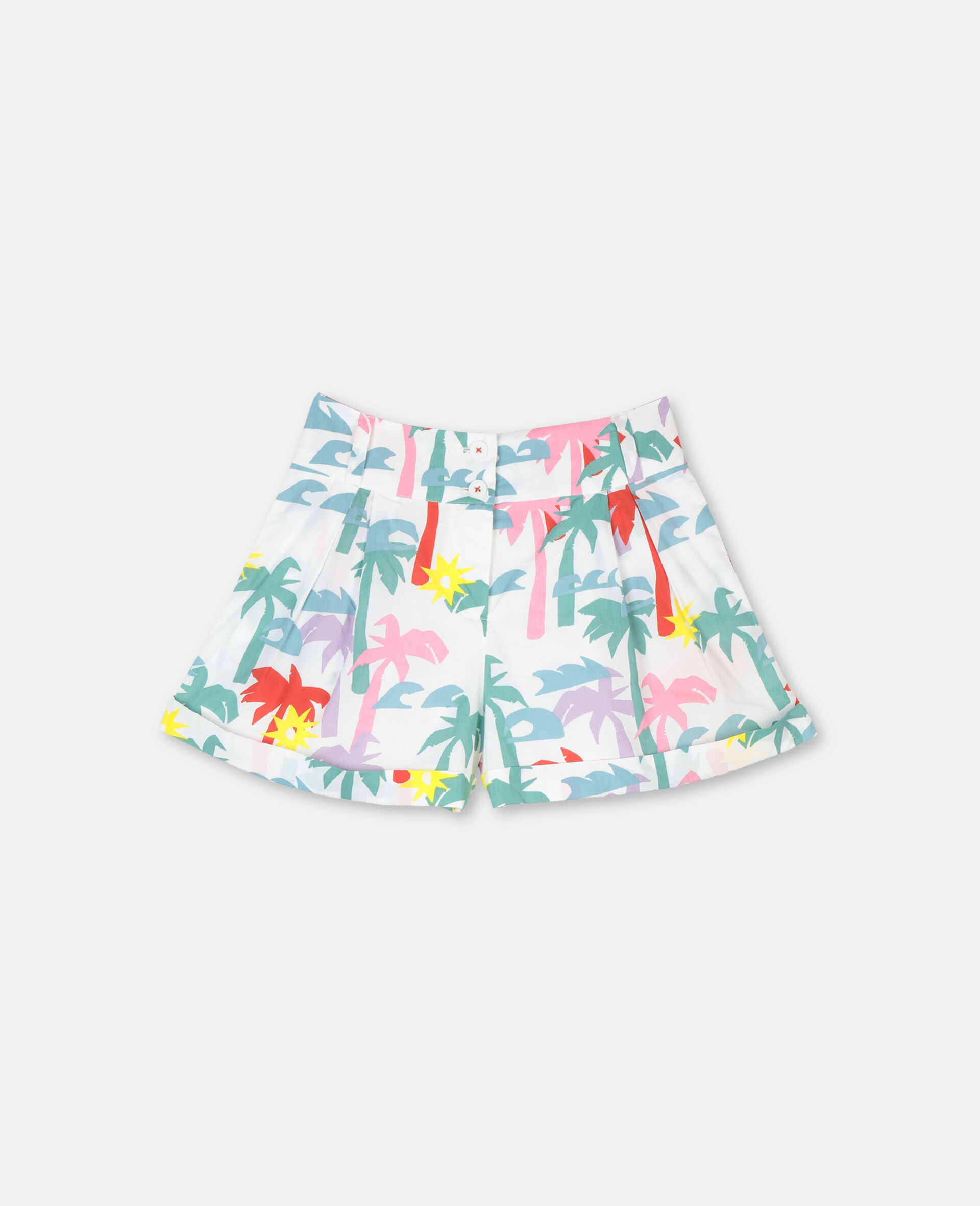 Palm Cotton Shorts-Multicolour-large