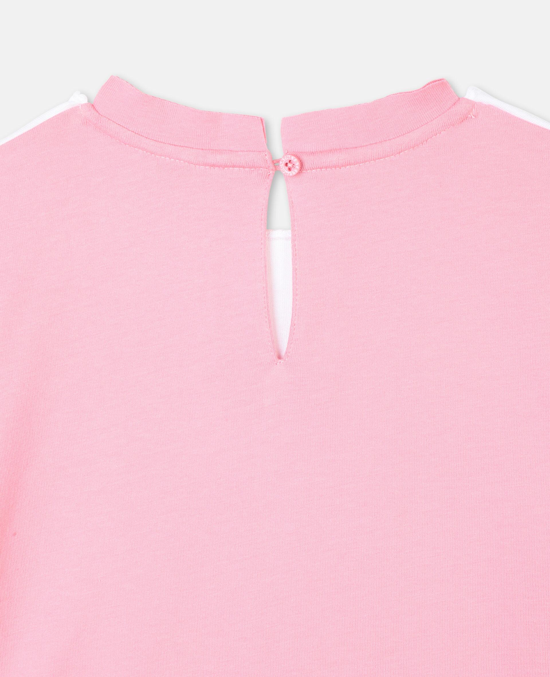 Flamingo Cotton Dress-White-large image number 2