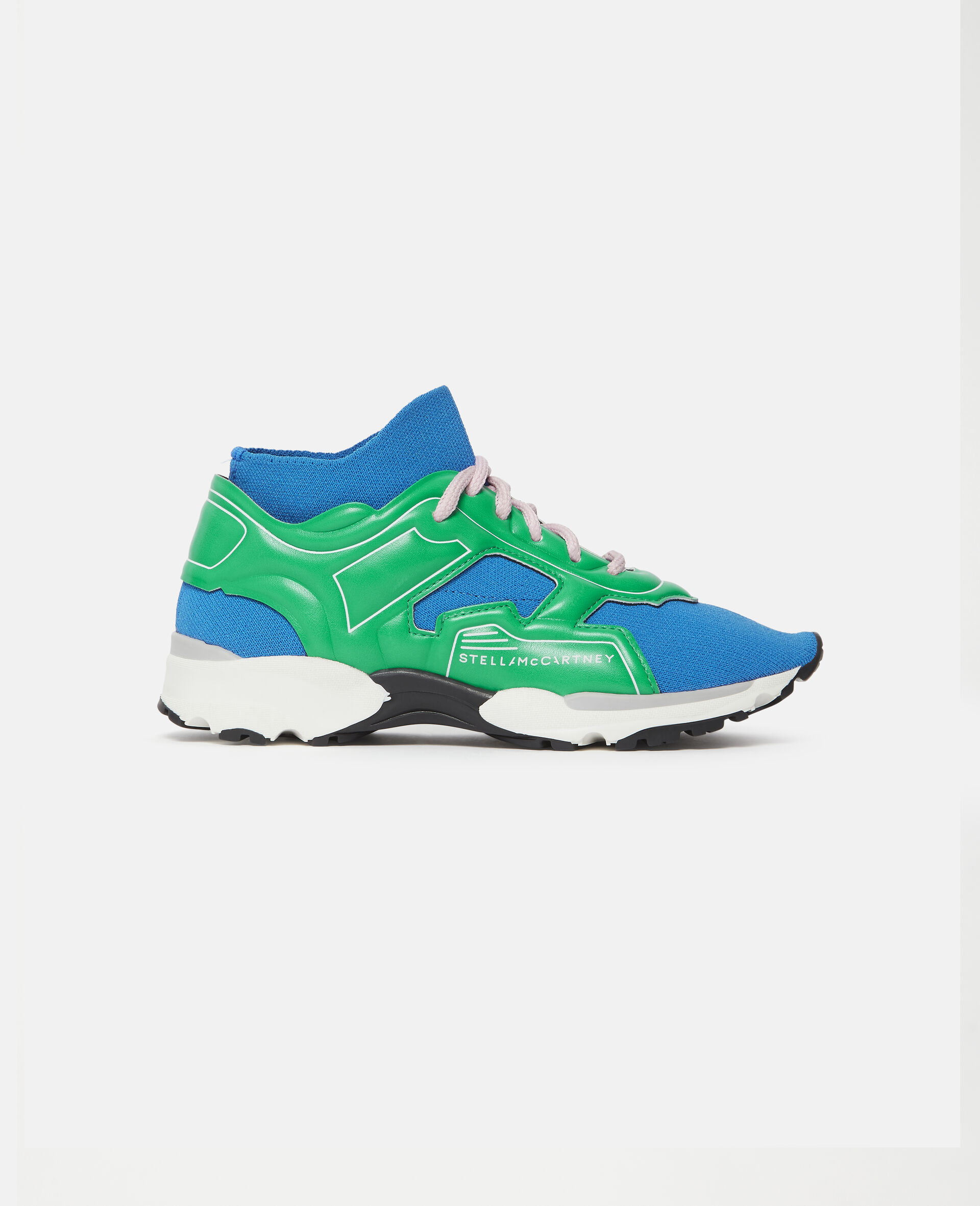 Knit Sock Sport Sneakers-Blue-large image number 0