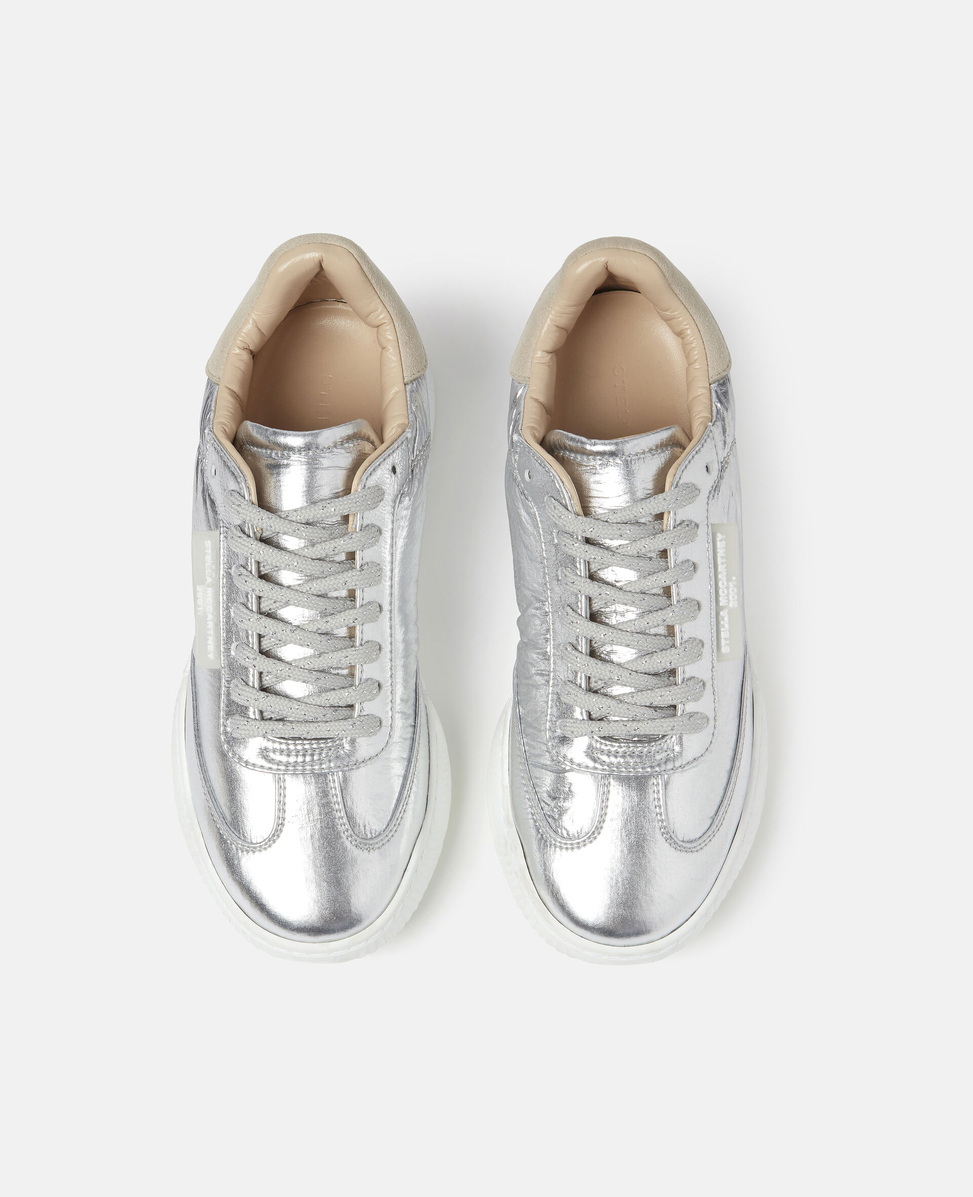 Loop Lace-up Sneakers-Grey-large image number 3