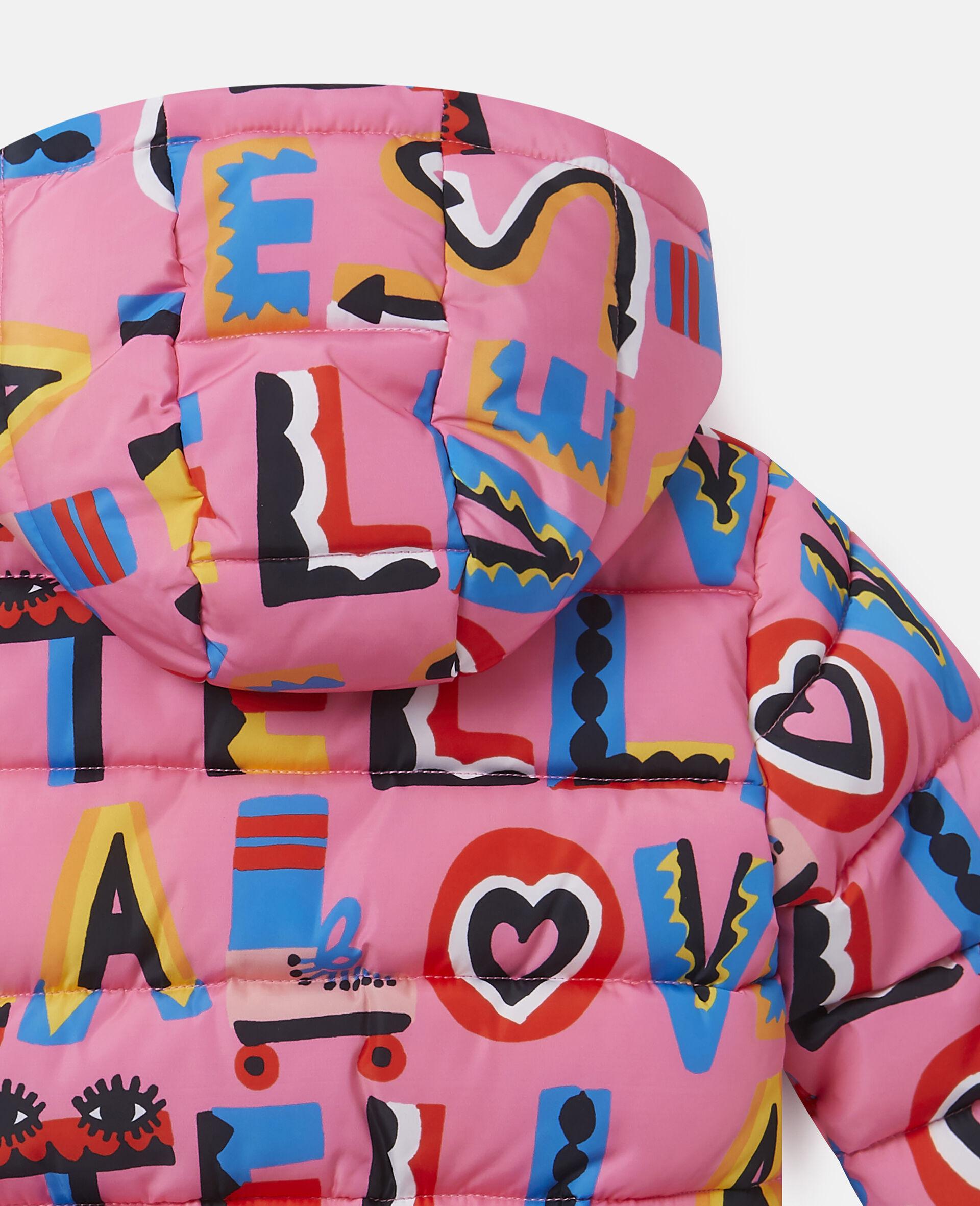 Stella Loves Hooded Puffer Jacket-Pink-large image number 2
