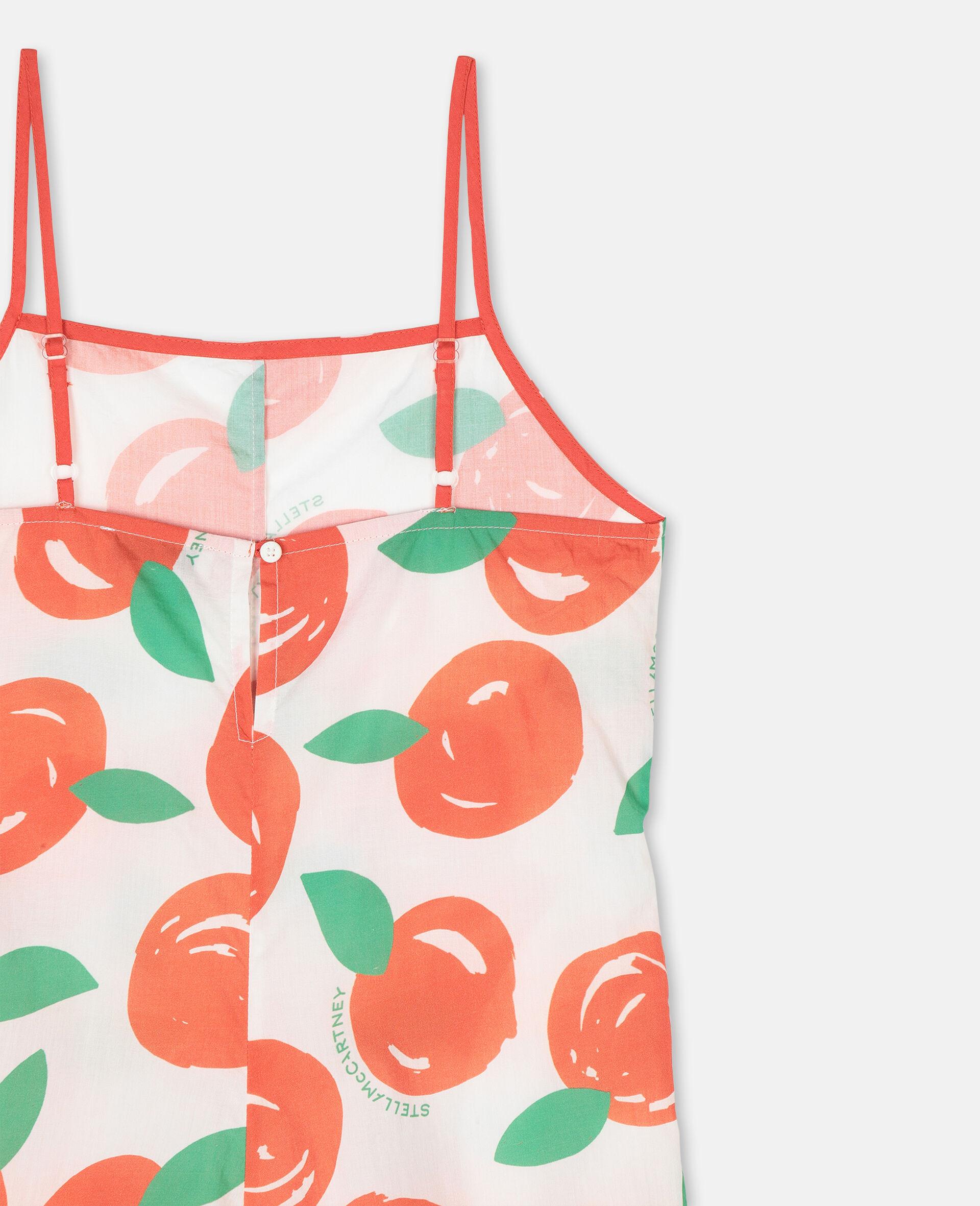 Combinaison en coton avec motif clémentines-Rouge-large image number 2