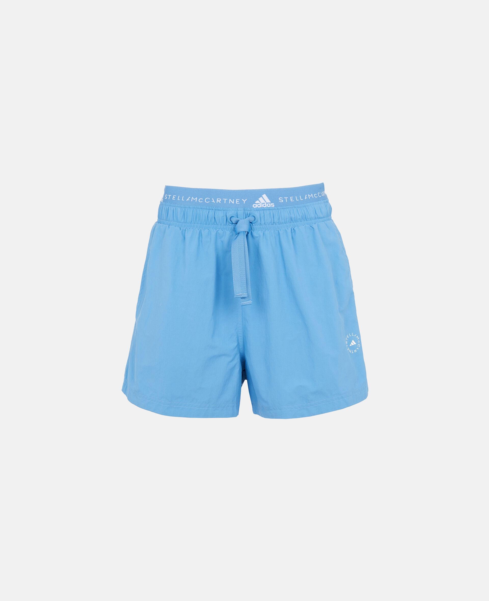蓝色机织短裤 -蓝色-large image number 0