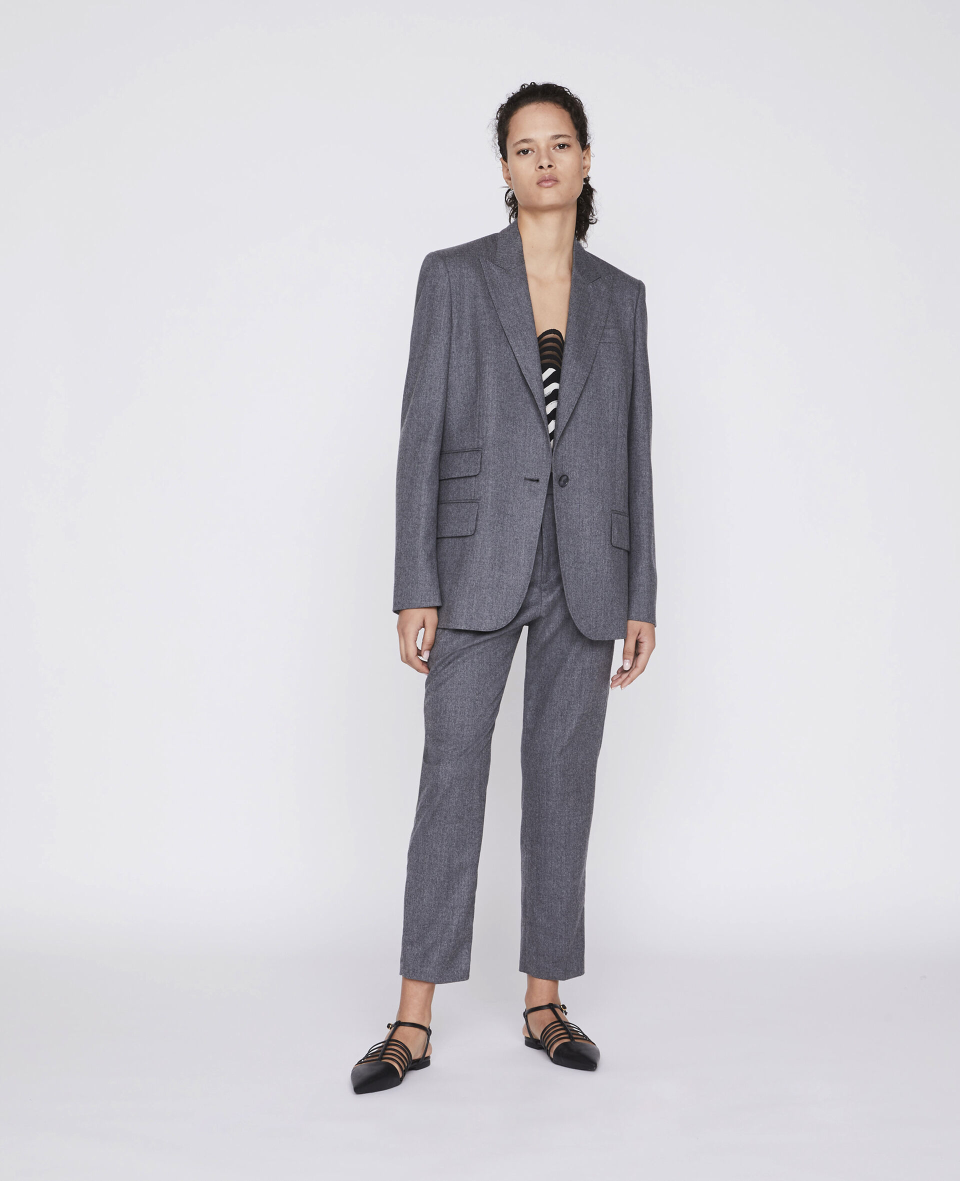 Tailored Bell Jacket -Grey-large image number 1