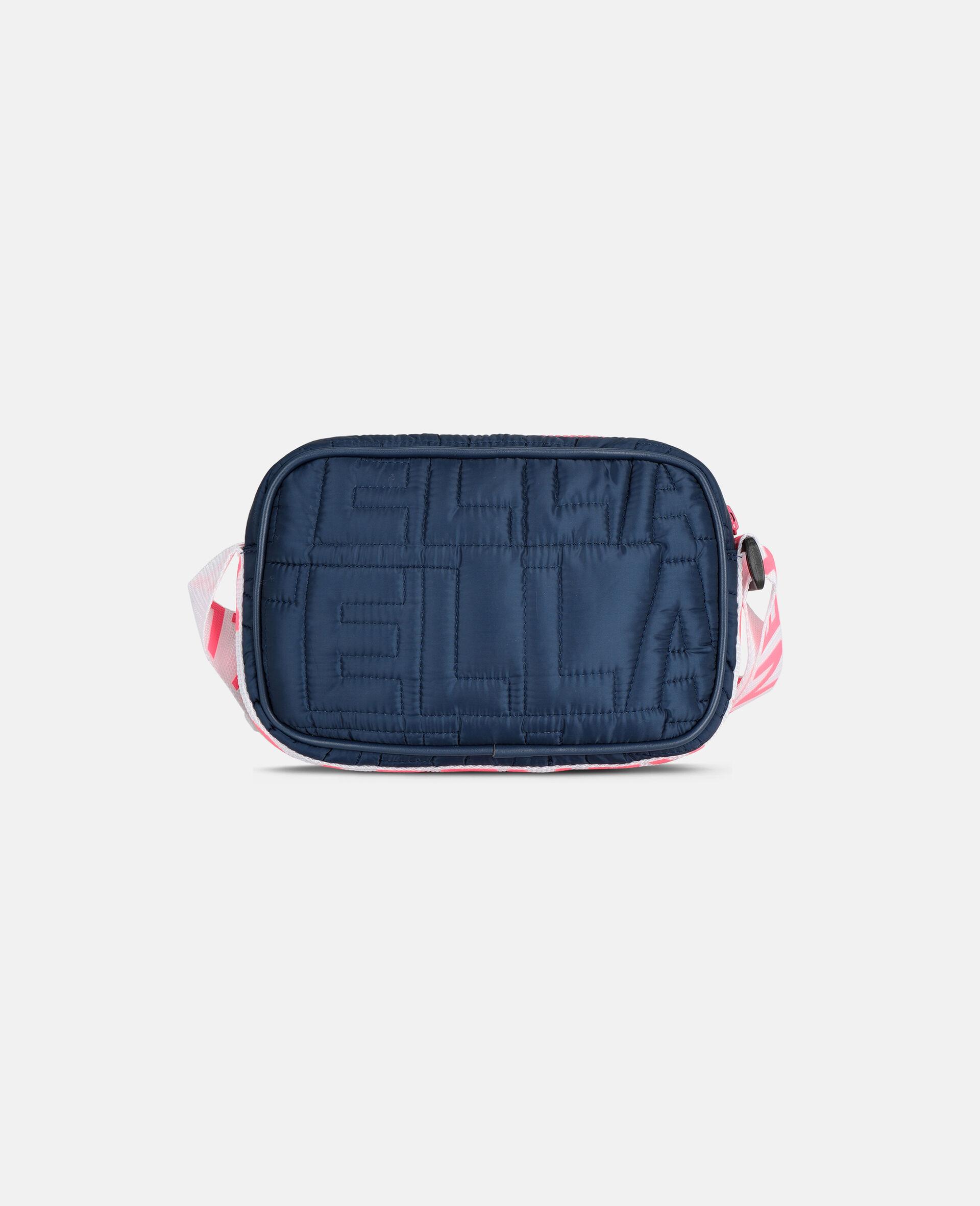 Sac porté épaule matelassé avec logo -Bleu-large image number 3