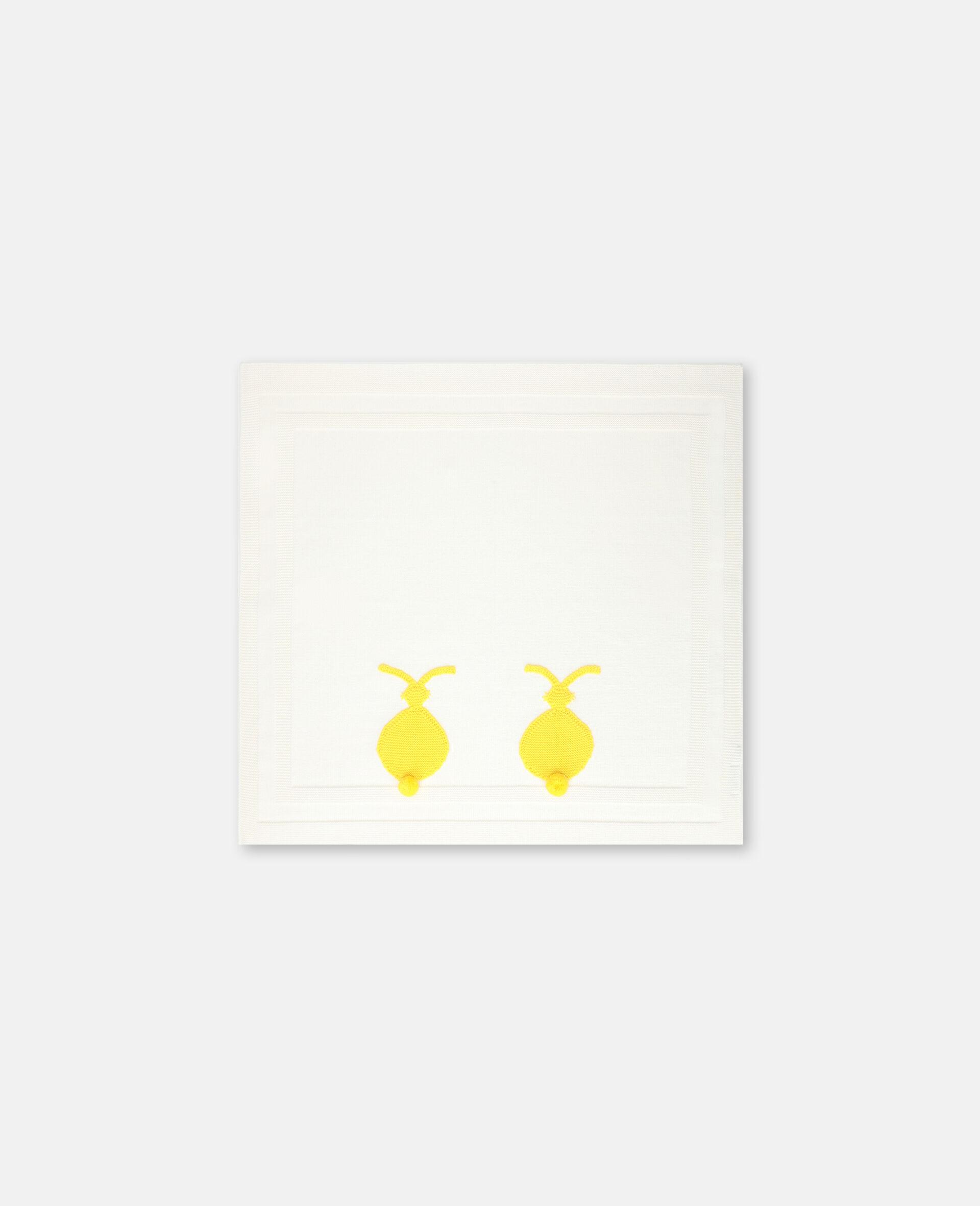 Bunny Knit Blanket -White-large image number 2