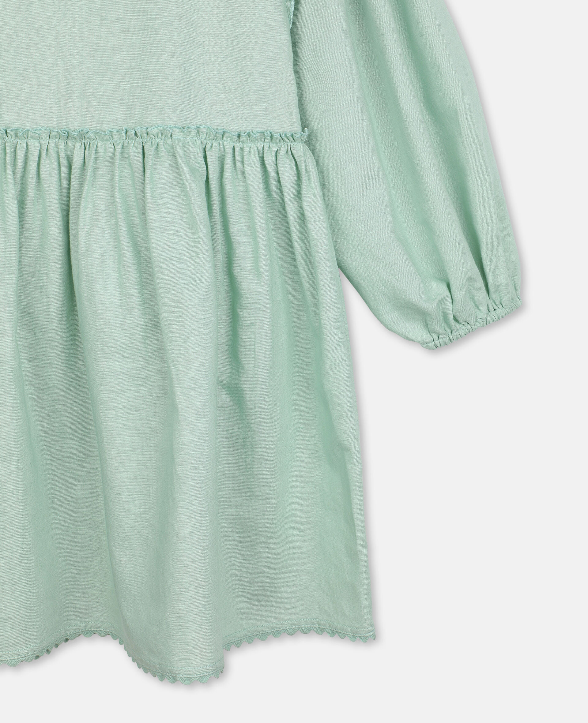 Dress with Butterfly Lace-Green-large image number 2
