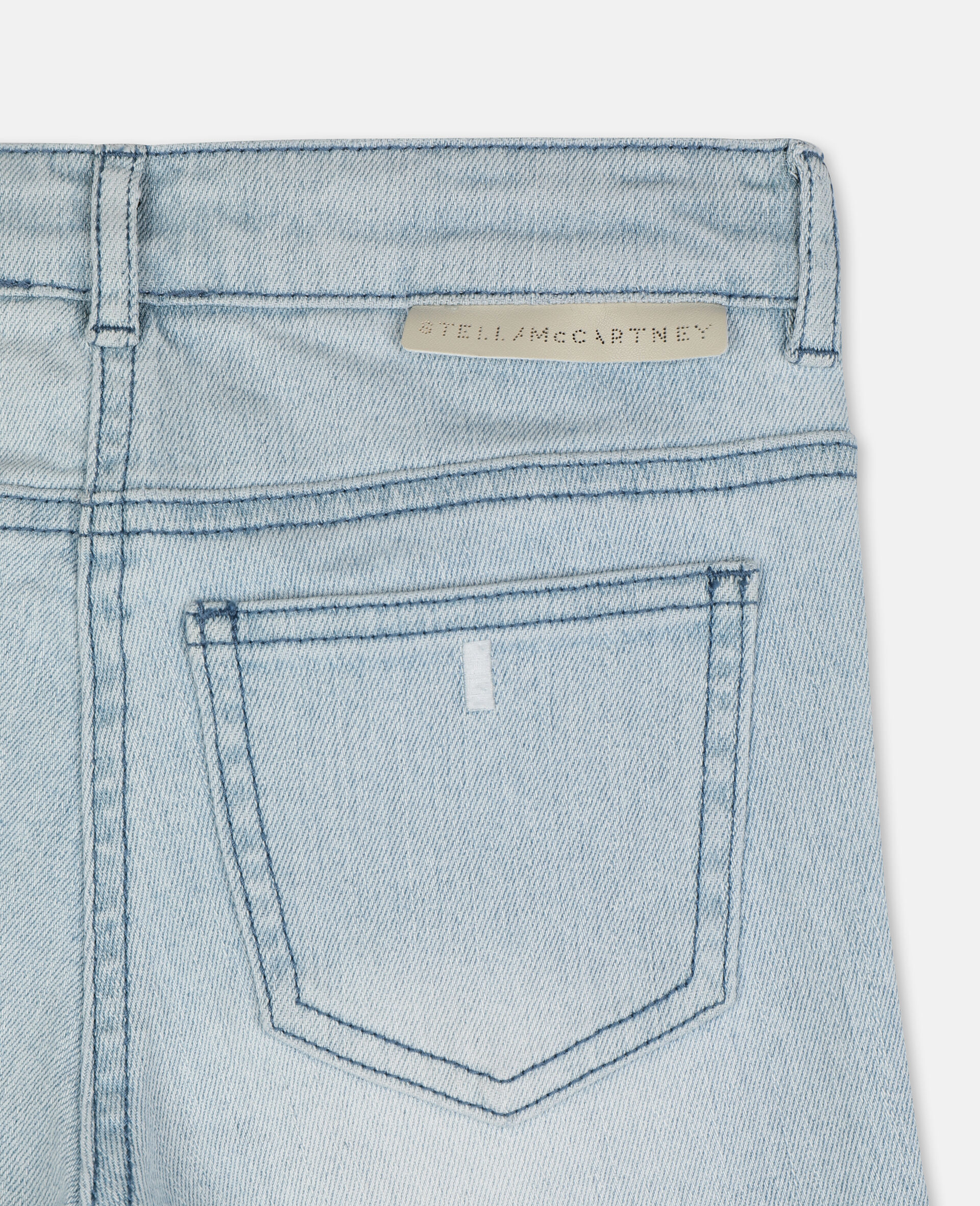 Skinny Denim Pants-Blue-large image number 2