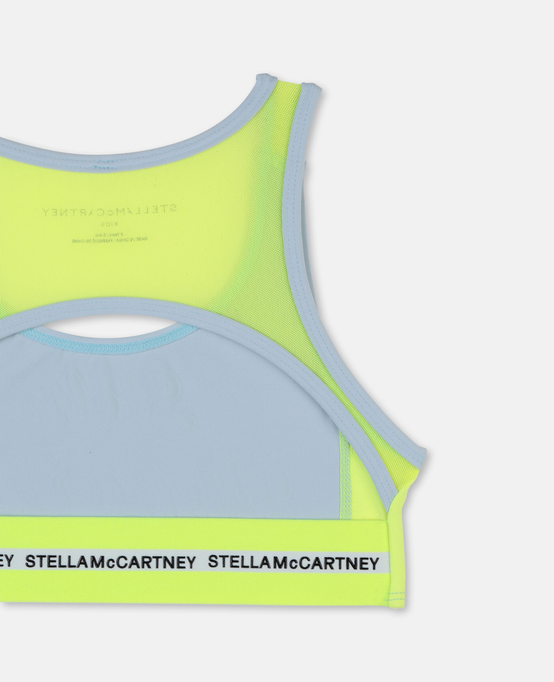 Logo Heavy Jersey Active Bra-Blue-large image number 2