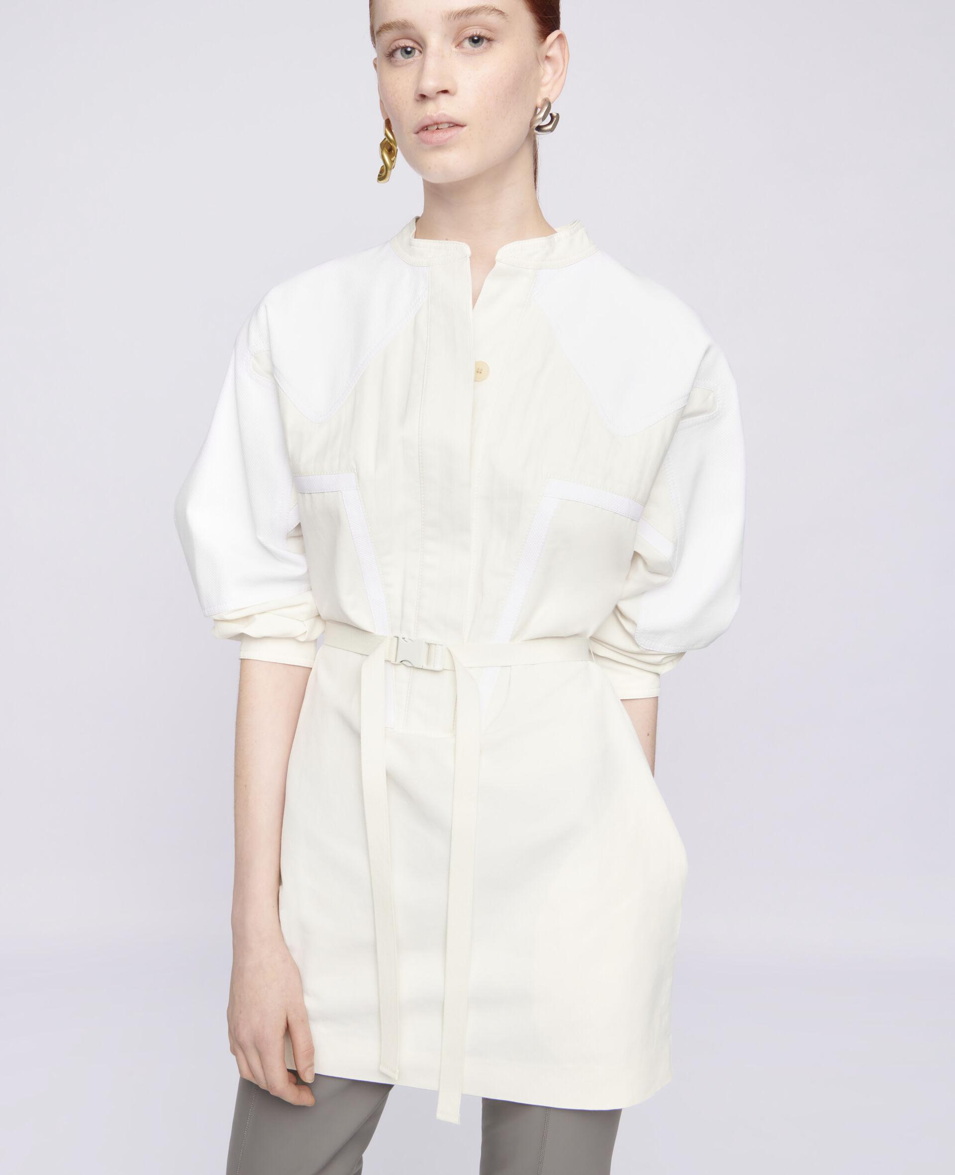 Robe courte Liana-Blanc-large image number 3