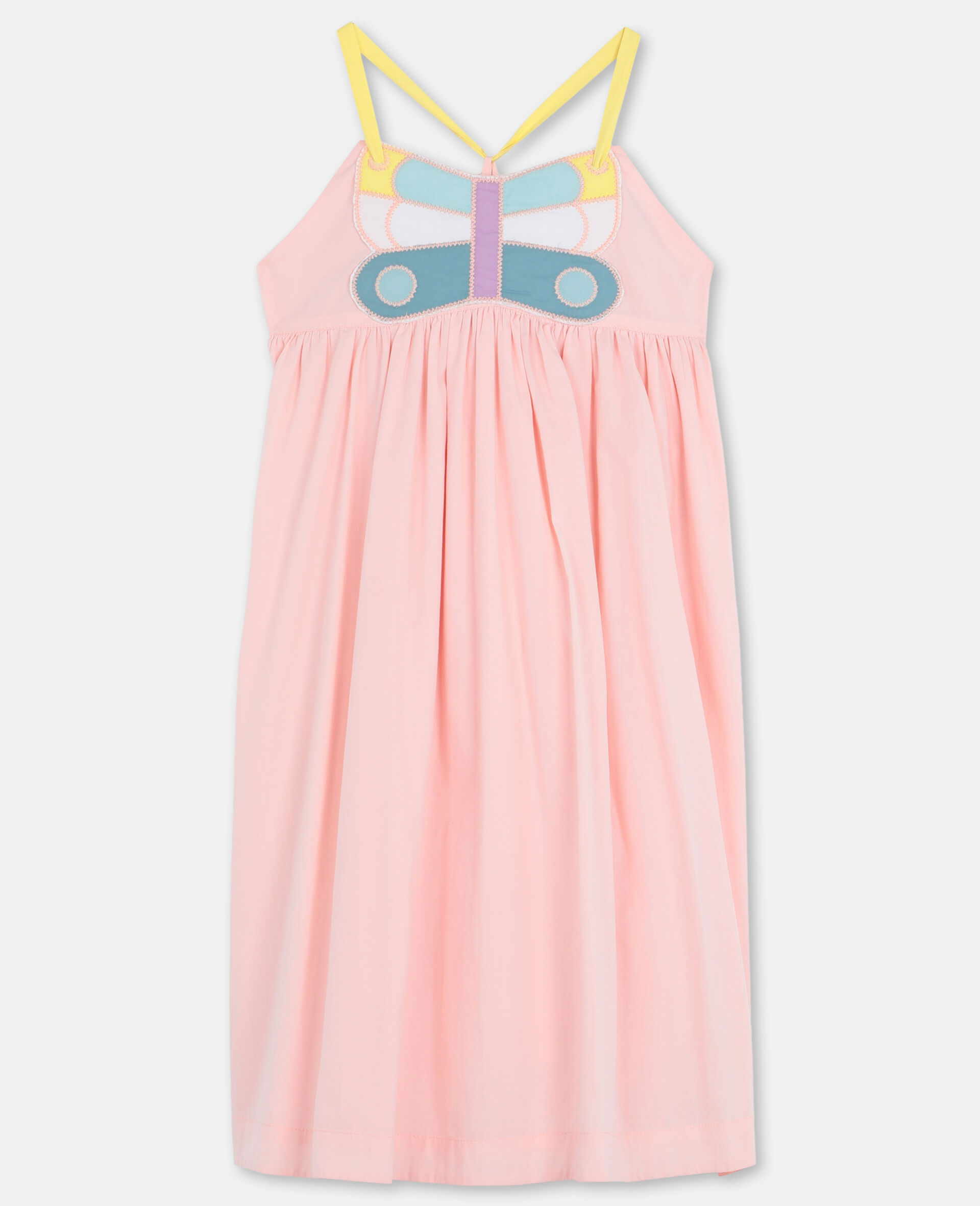 Butterfly Patch Cotton Dress -Pink-large image number 0