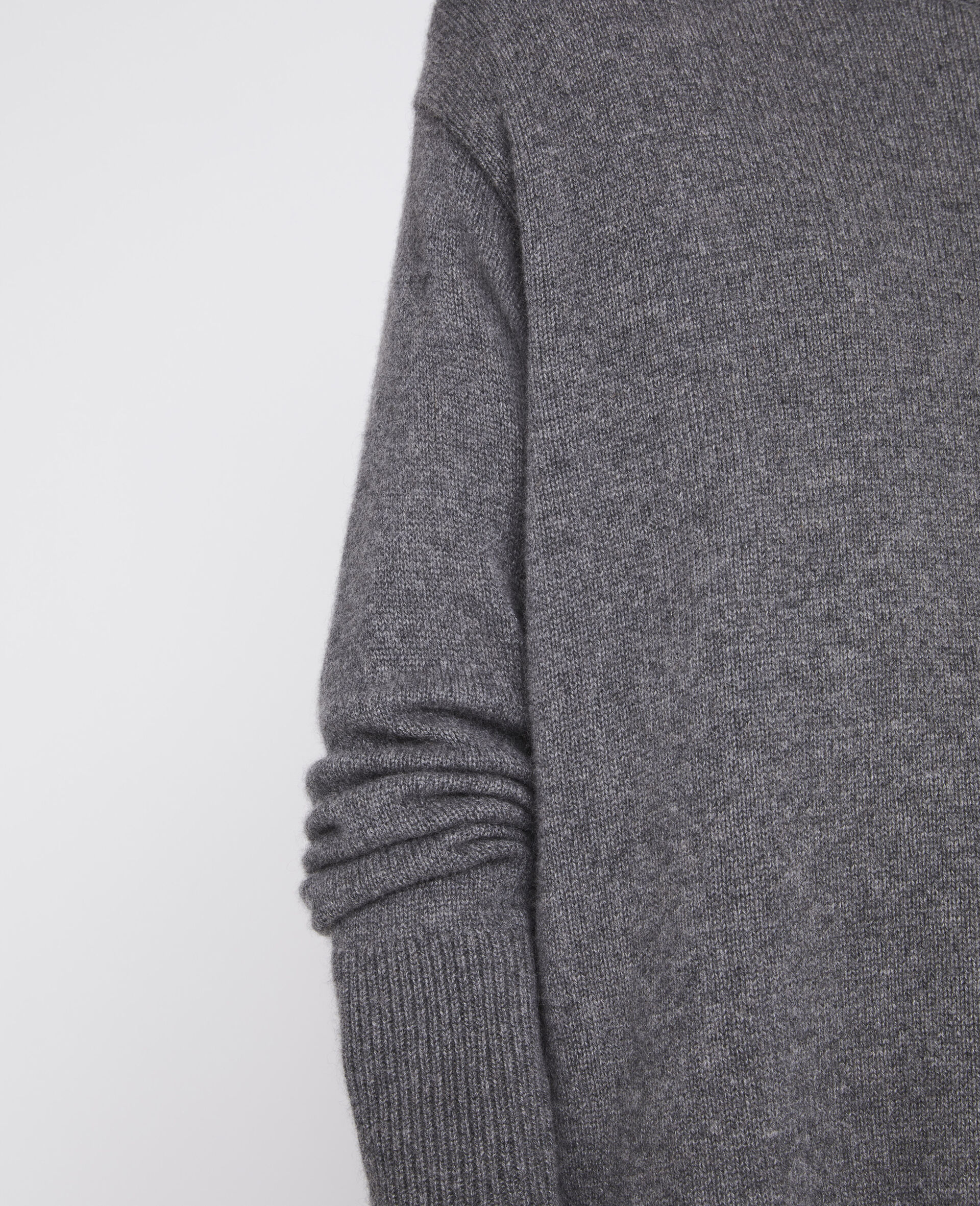Regenerated Cashmere Sweater-Grey-large image number 3