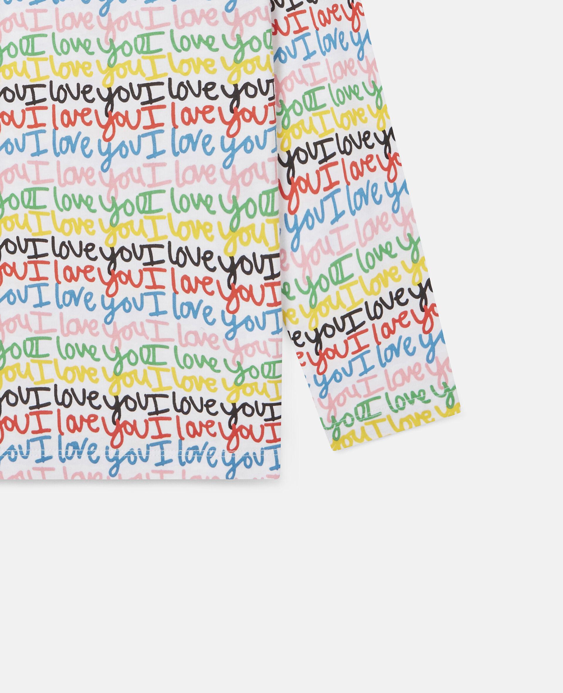 Top aus Baumwolle mit 'Love You'-Print-Bunt-large image number 2