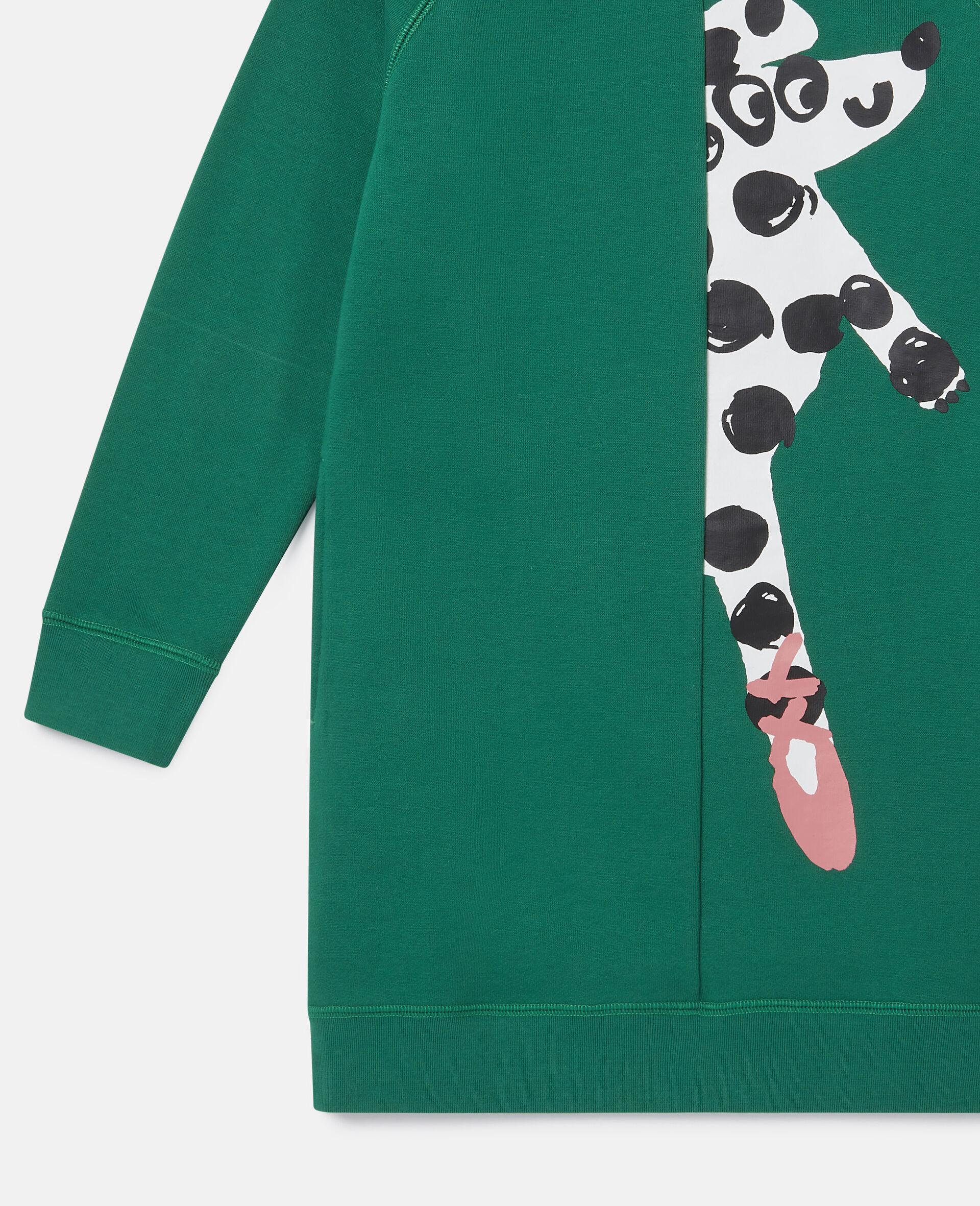 Kleid aus Fleece mit tanzendem Hund-Grün-large image number 2