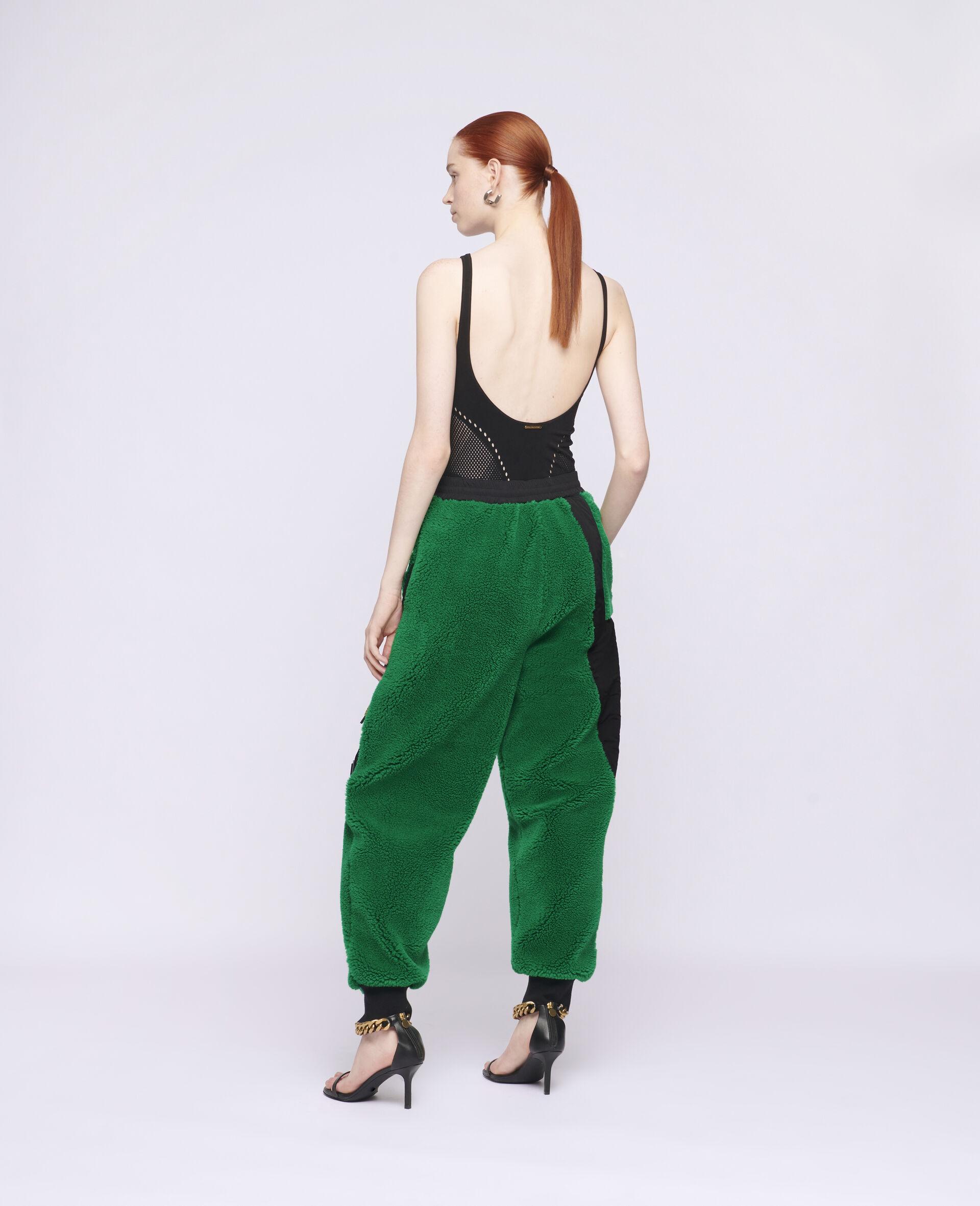 Pantalon en Teddy Mat Kara-Vert-large image number 2