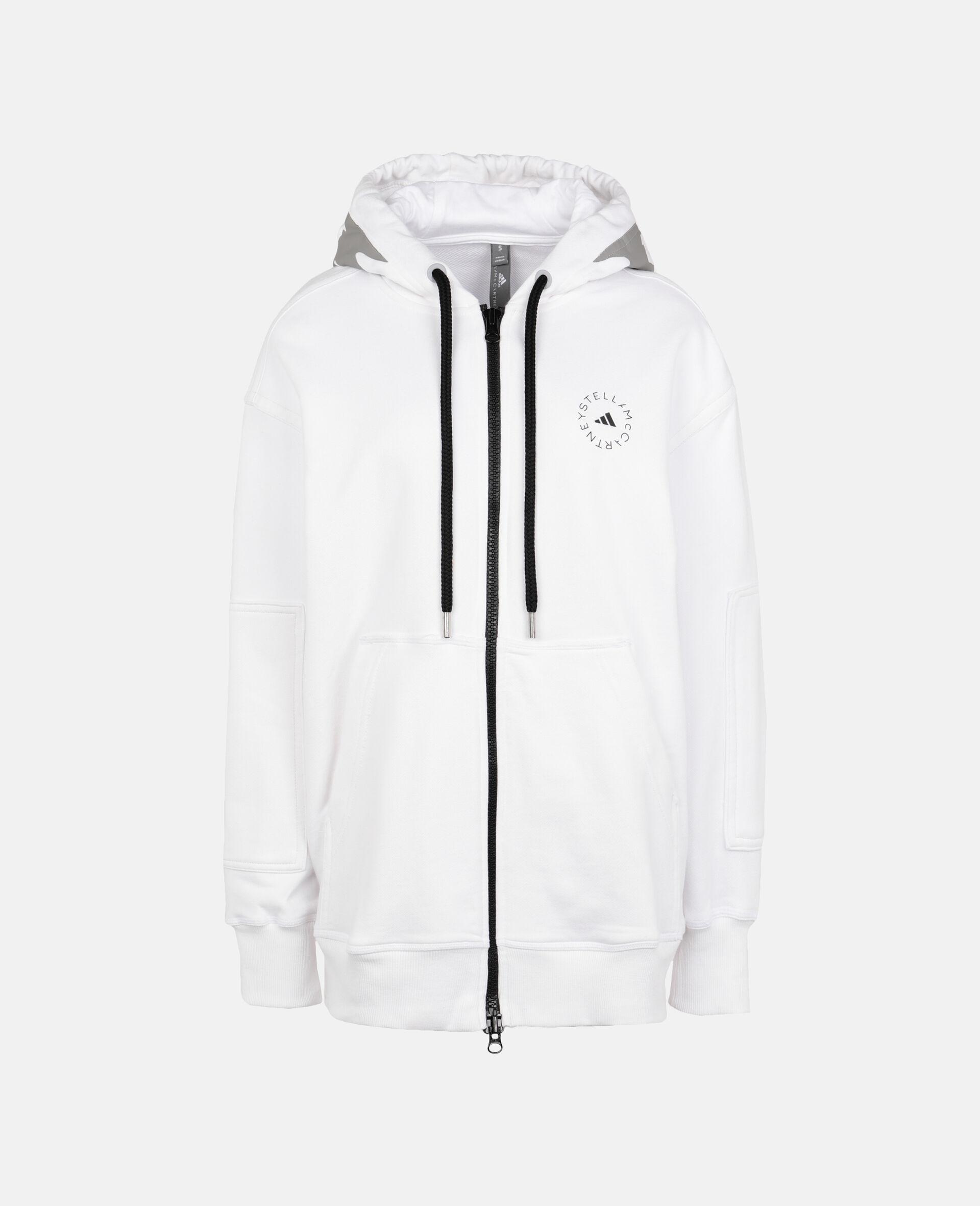 White Full-zip Hoodie-White-large image number 0