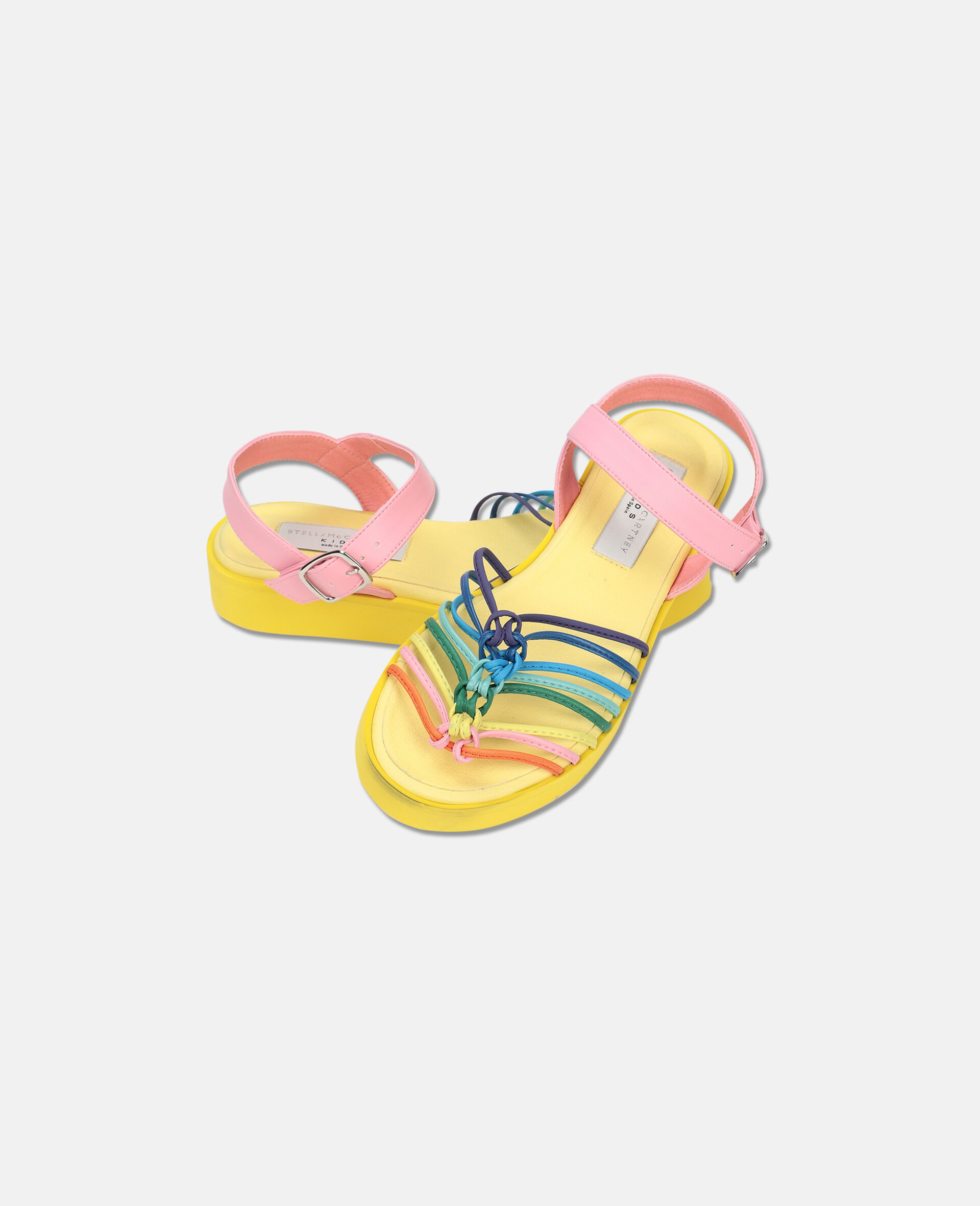 Multicolour Knotted Sandals -Multicolour-large image number 1