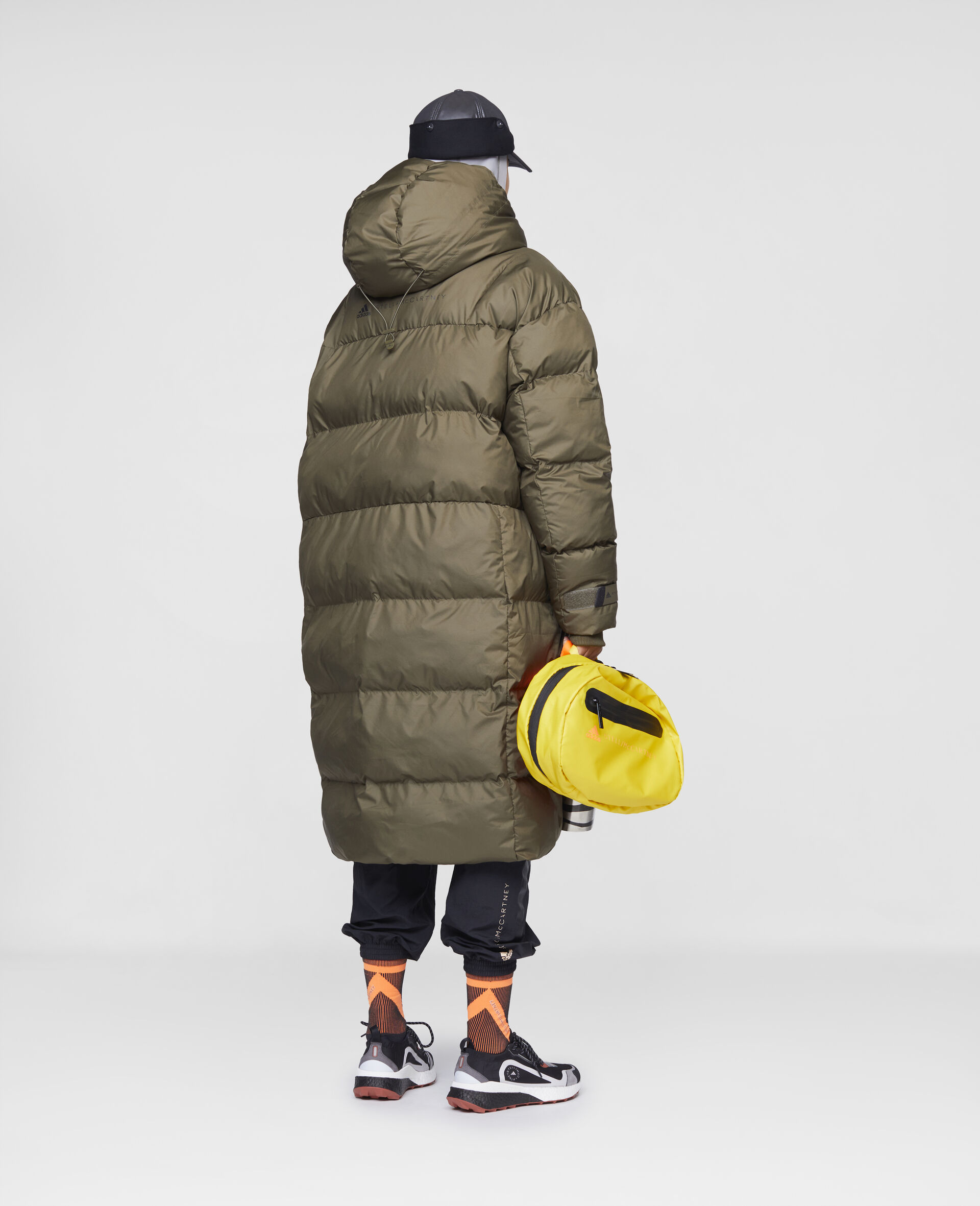 Long Training Puffer Jacket-Brown-large image number 2