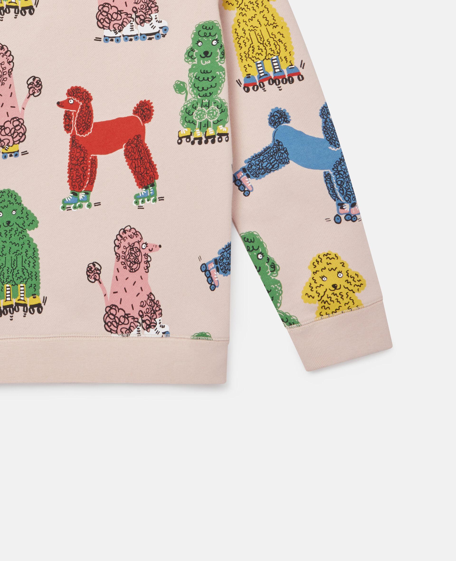 Doodle Poodles Fleece Sweatshirt -Pink-large image number 2