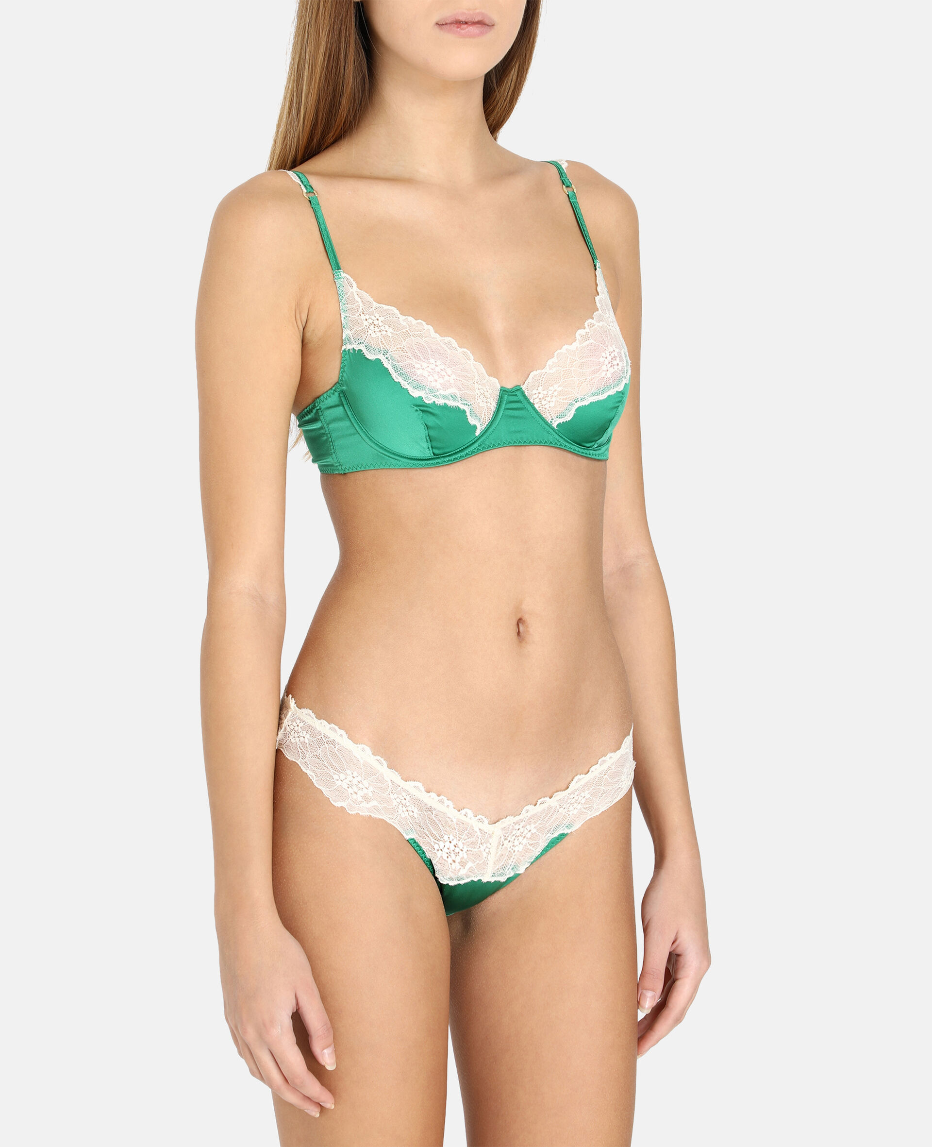 Kitty Chatting Briefs-Green-large image number 1