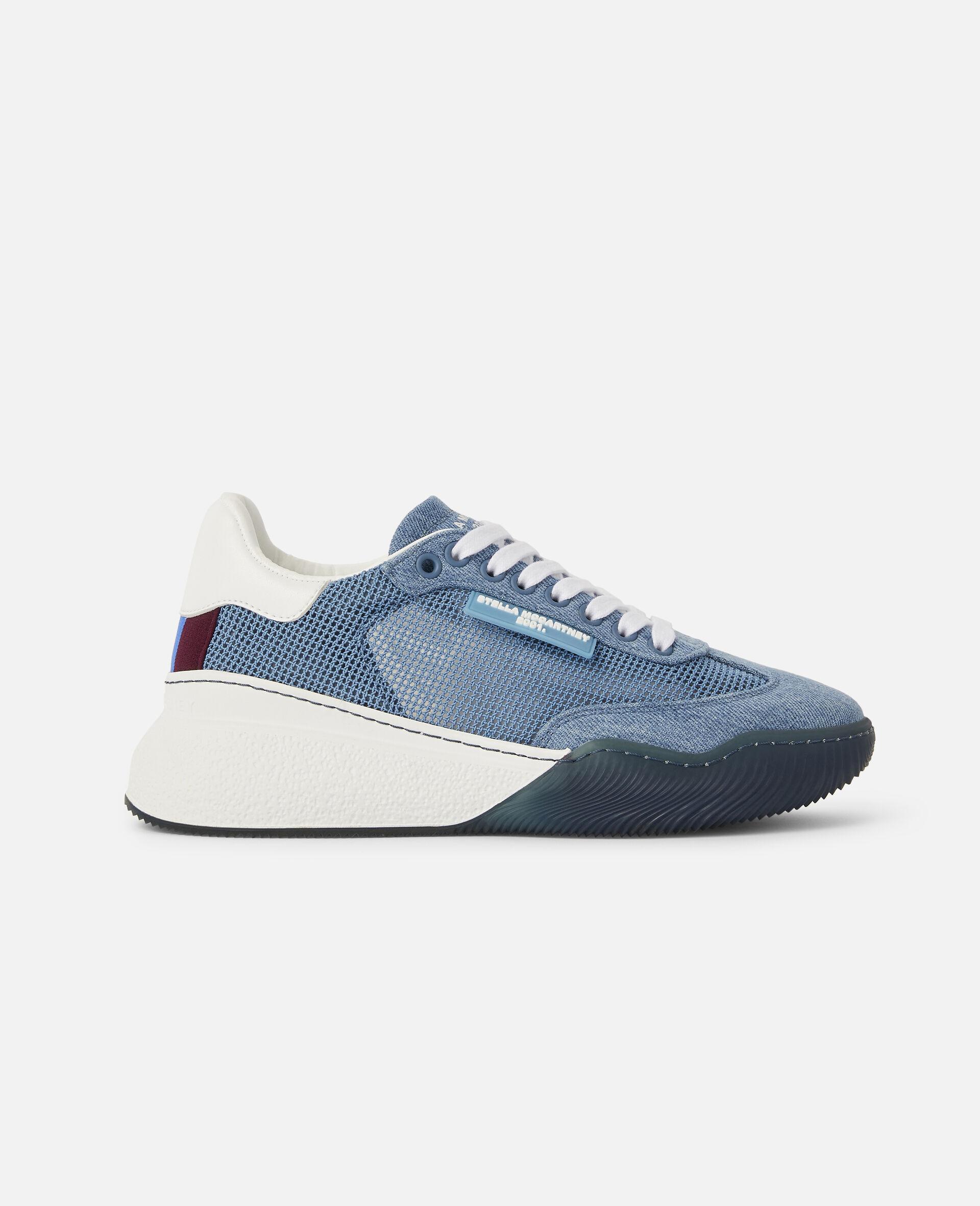 Loop Square Mesh Sneakers -Blue-large image number 0
