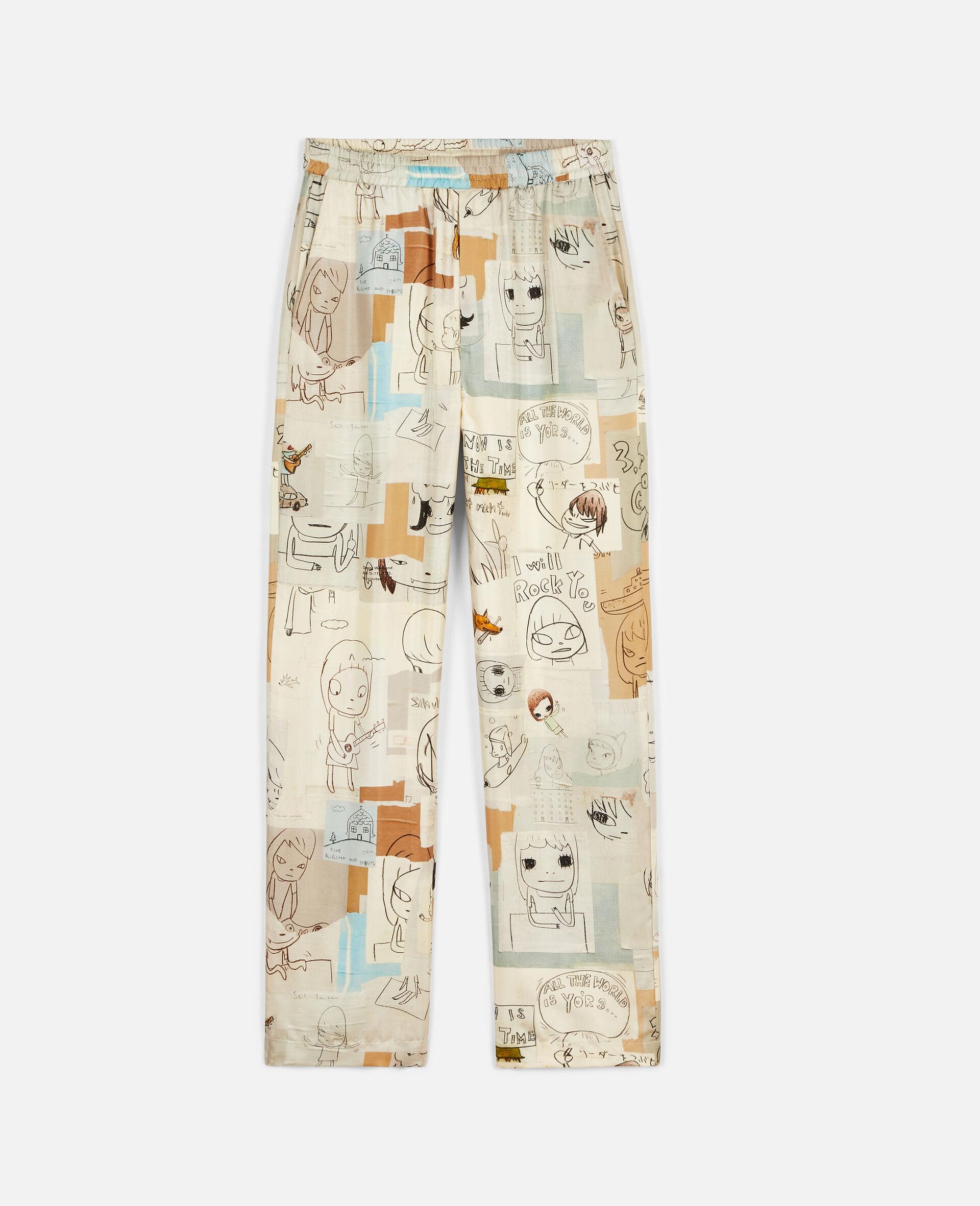 Nara Tye Silk Trousers-Multicolour-large image number 0