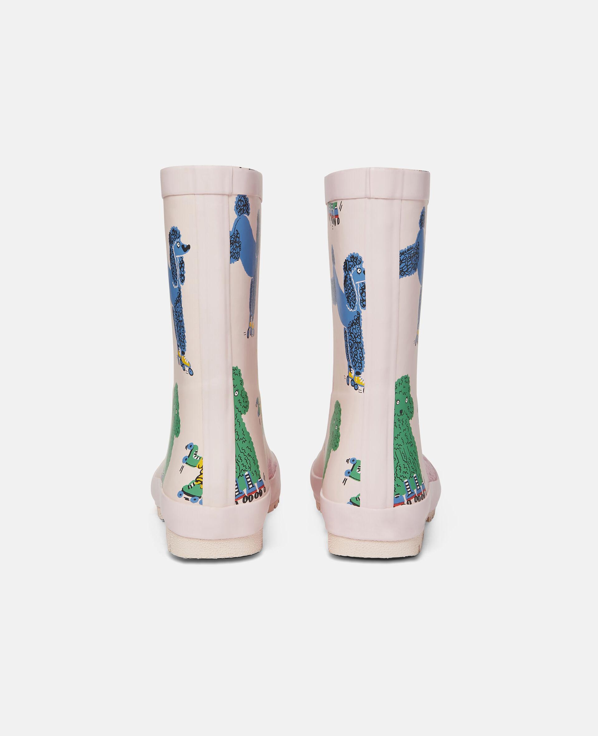 Bottes de pluie imperméables motif caniches-Rose-large image number 2
