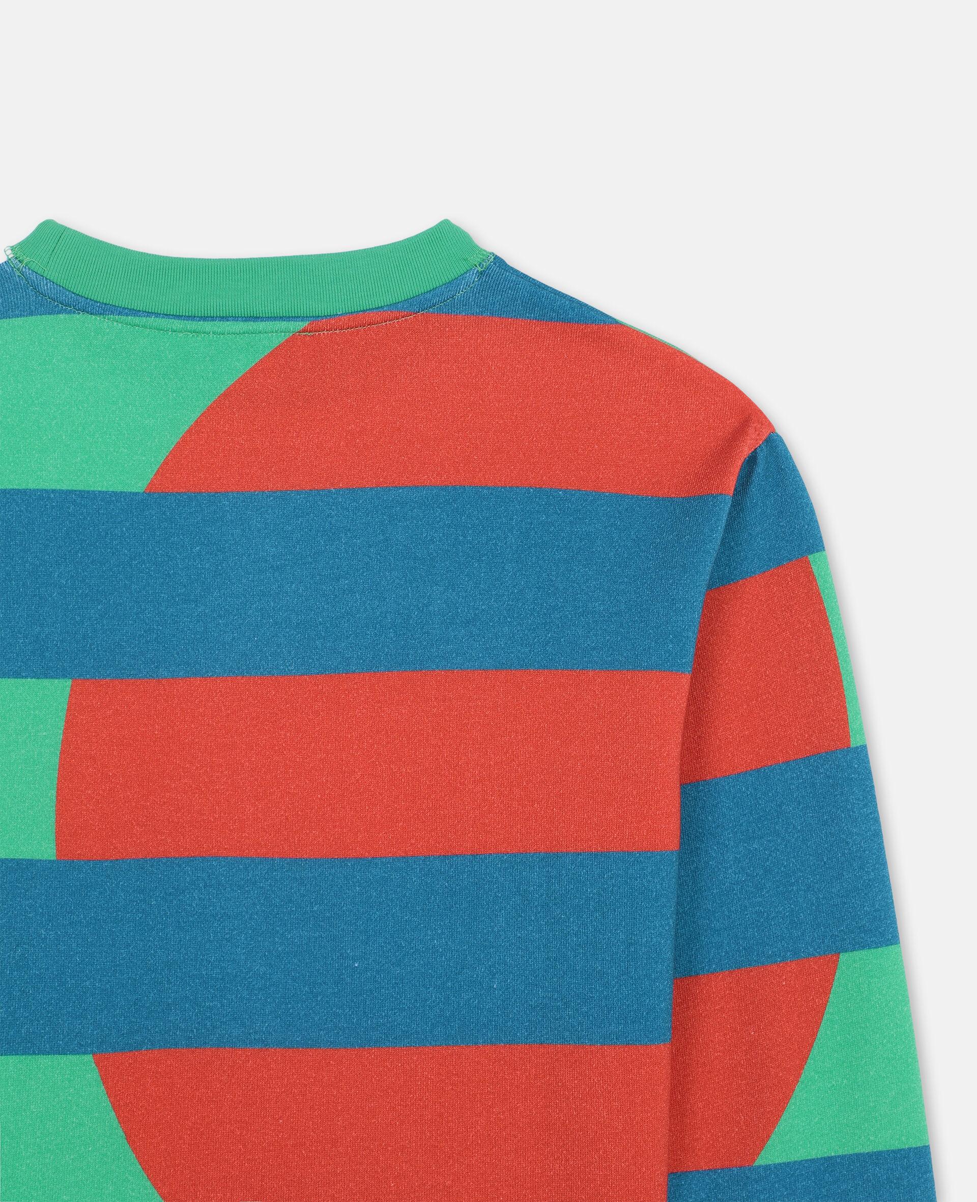 Sweat-shirt oversize en coton à motif palmiers -Vert-large image number 2