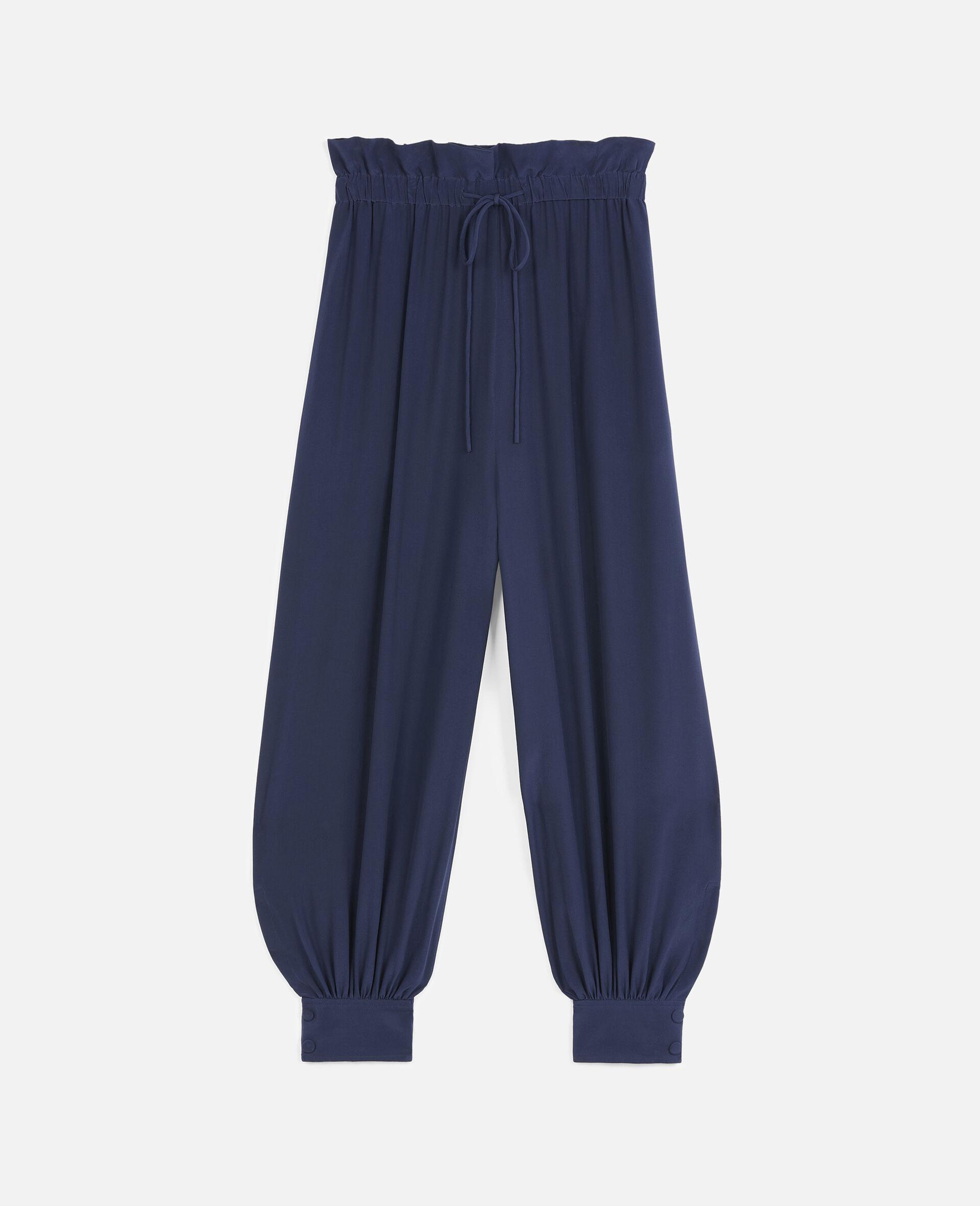Lauryn 真丝裤装-蓝色-large image number 0