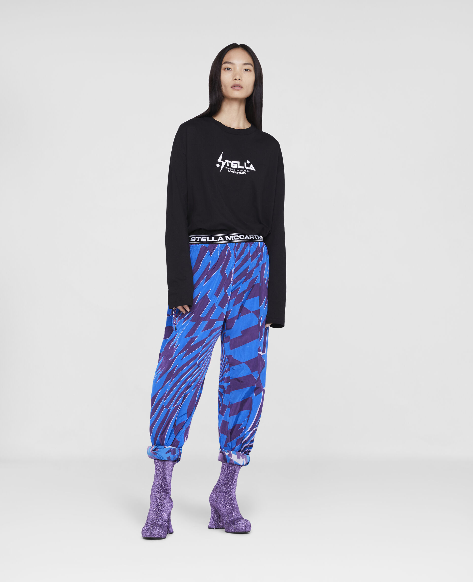 Ed Curtis Psychedelic Joggers -Multicolour-large image number 1