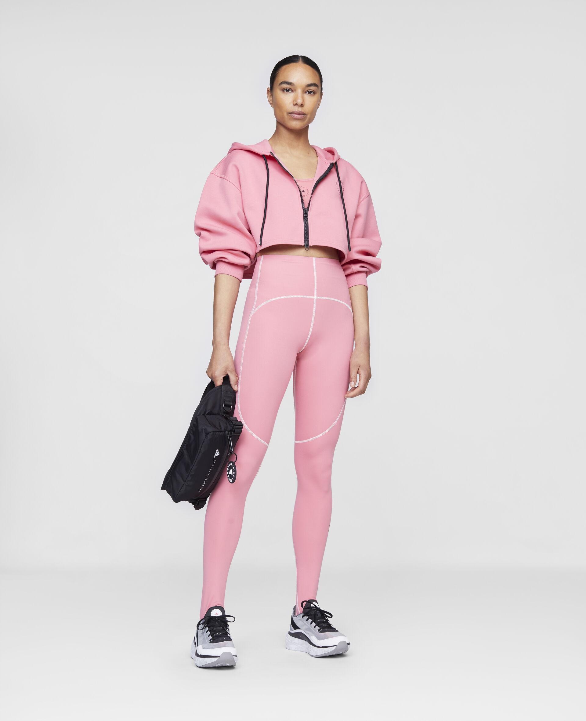 Pink Training Crop Hoodie-Pink-large image number 1