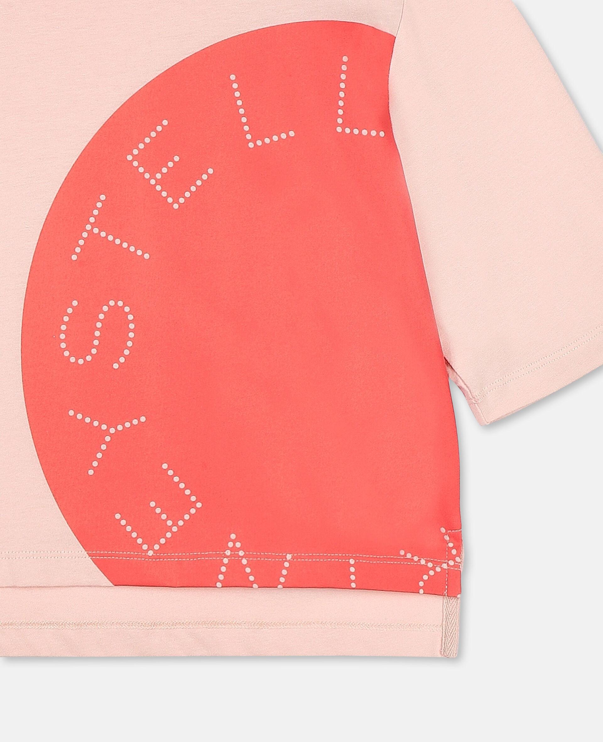 T-shirt de sport en coton oversize avec logo -Rose-large image number 1