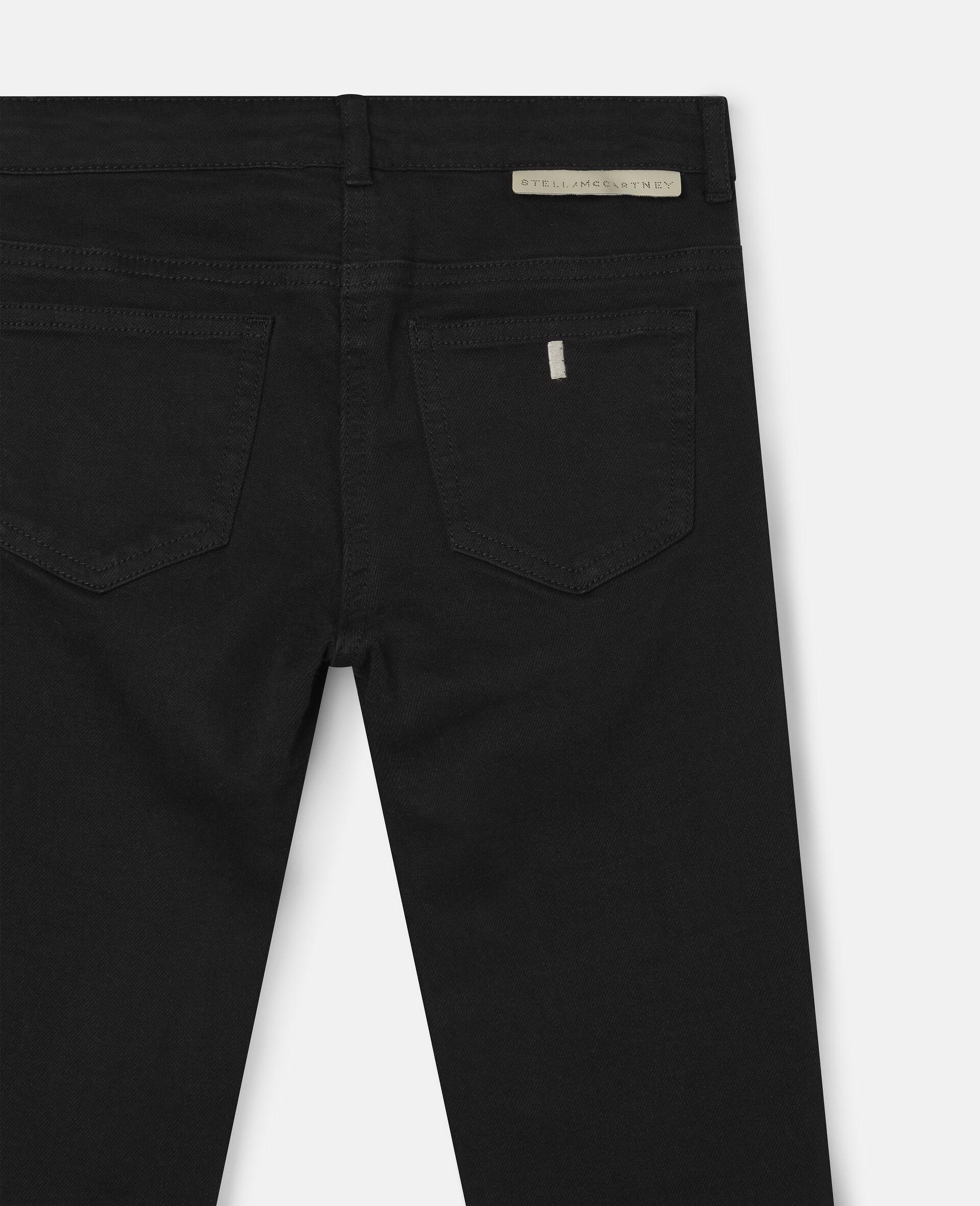 Denim Pants-Black-large image number 1
