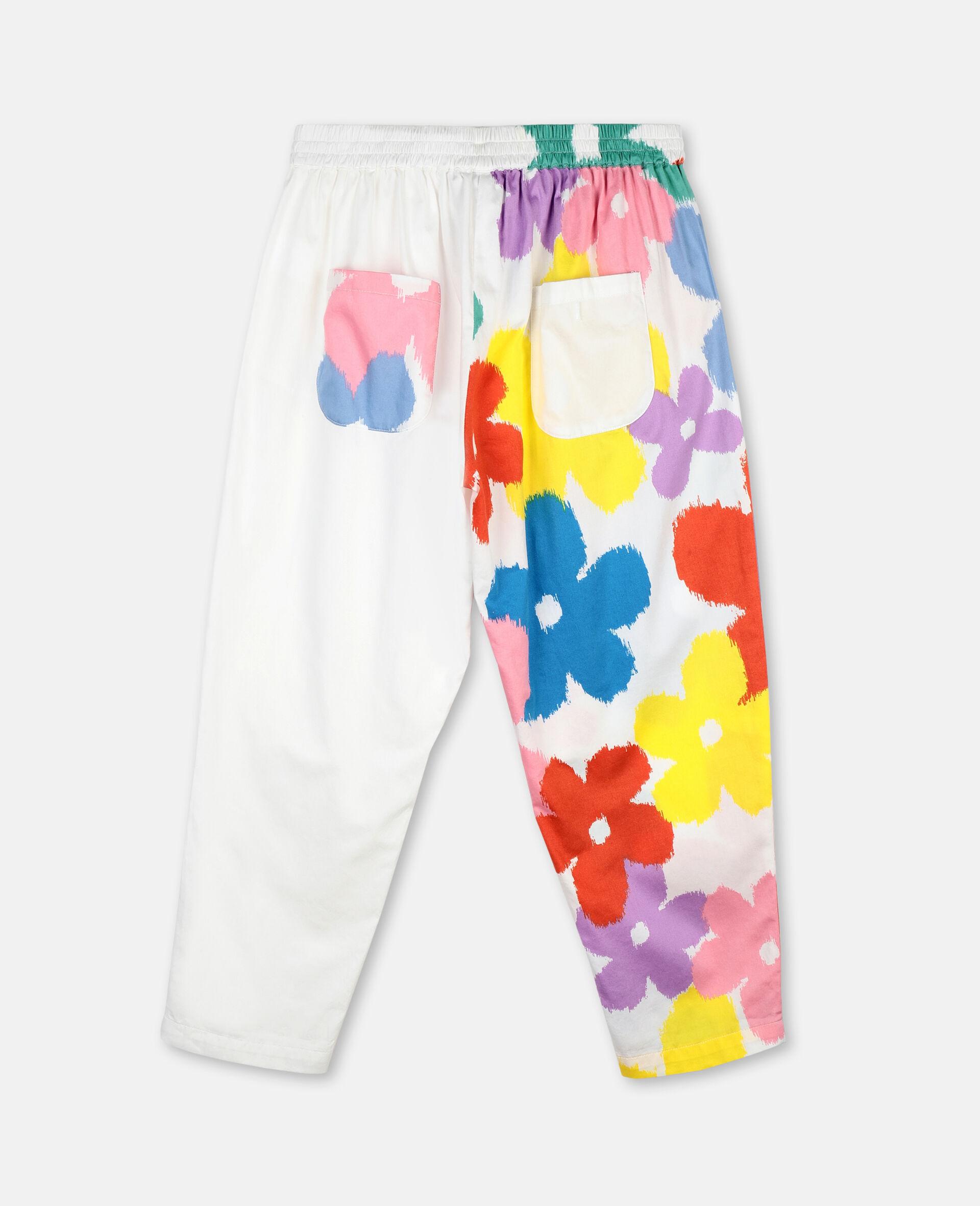 Flower Cotton Trousers-Multicolour-large image number 3