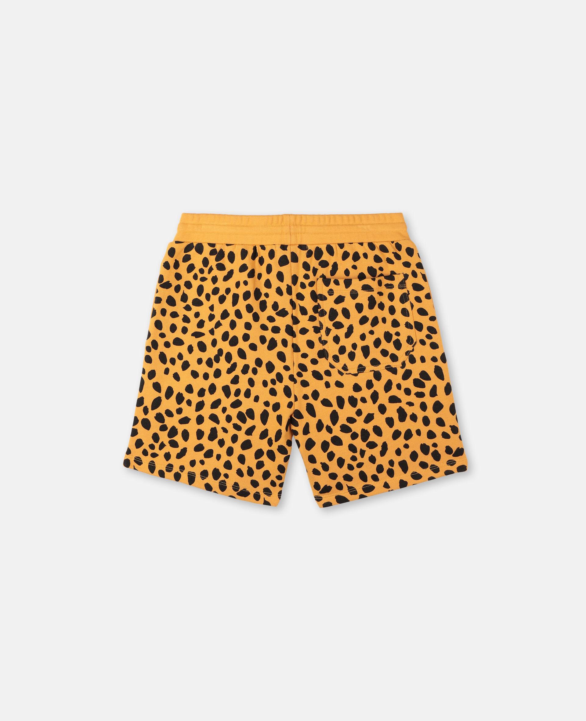 Cheetah Dots Cotton Shorts -Multicolour-large image number 3