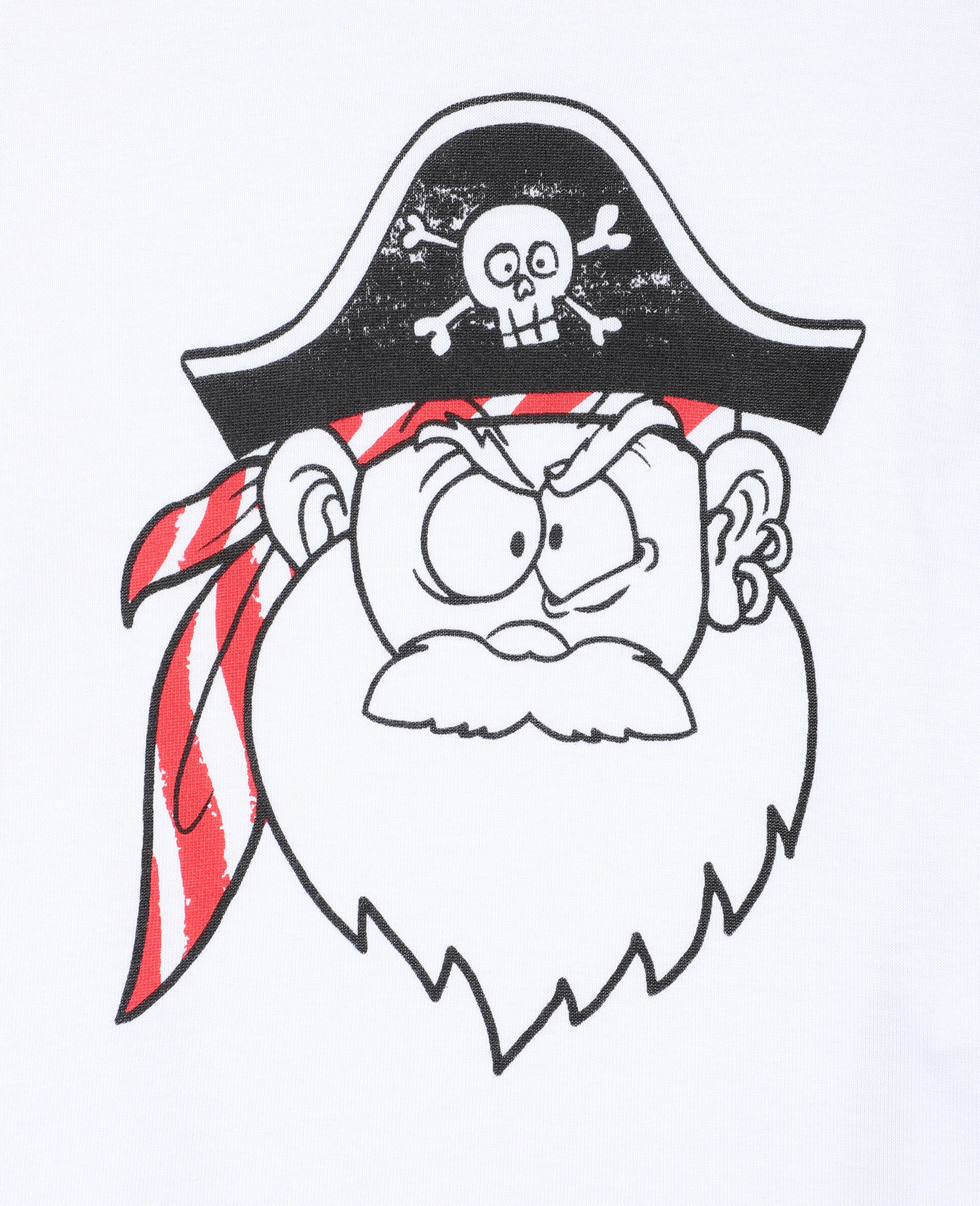 Funny Pirate Face T-shirt -White-large image number 1