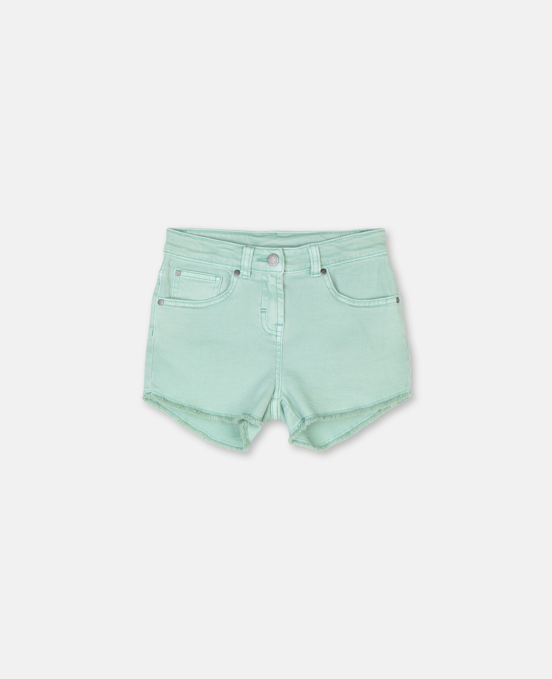 Denim Mint Shorts -Green-large image number 0